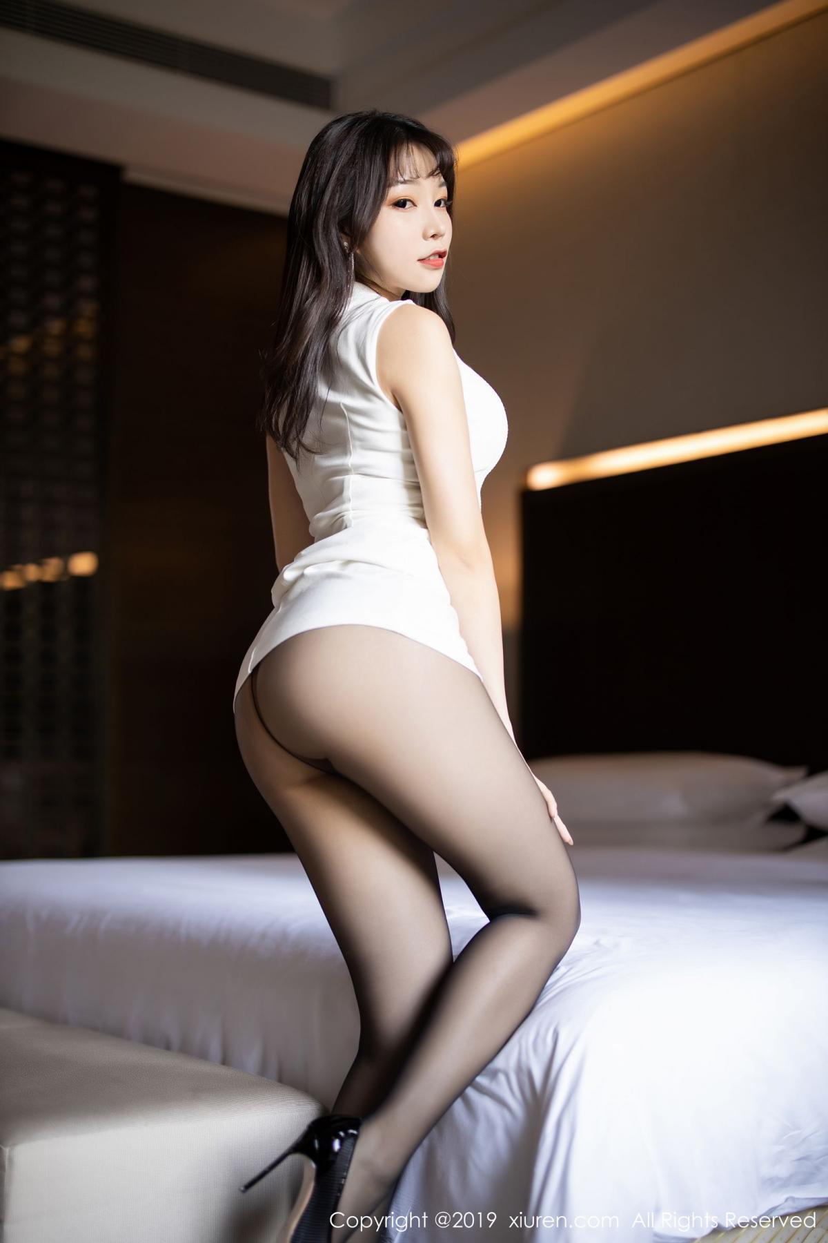 [XiaoYu] Vol.1714 Chen Zhi 22P, Big Booty, Black Silk, Chen Zhi, Underwear, XiaoYu
