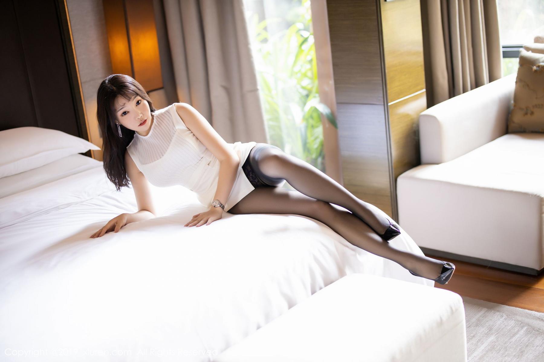 [XiaoYu] Vol.1714 Chen Zhi 25P, Big Booty, Black Silk, Chen Zhi, Underwear, XiaoYu