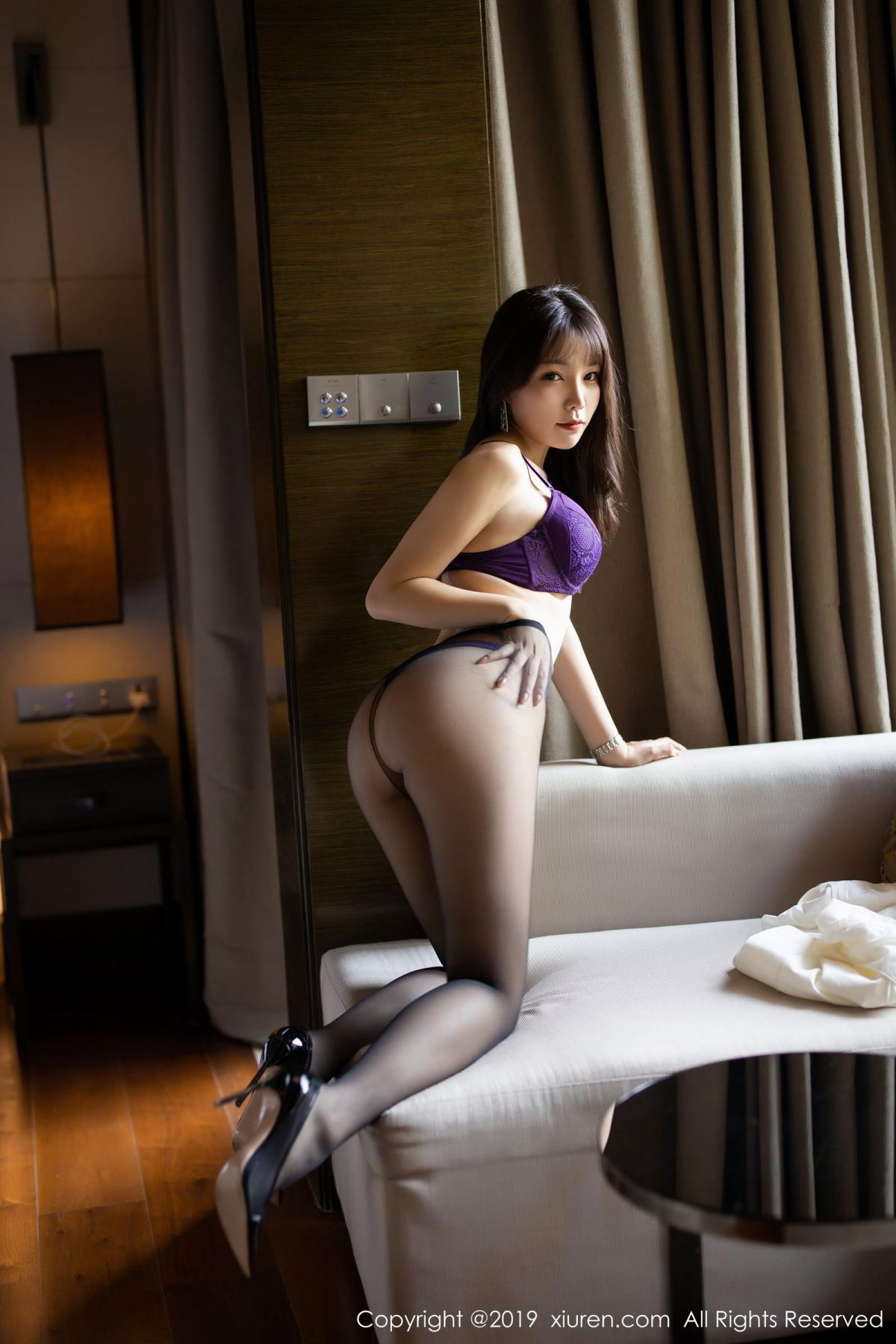 [XiaoYu] Vol.1714 Chen Zhi 35P, Big Booty, Black Silk, Chen Zhi, Underwear, XiaoYu