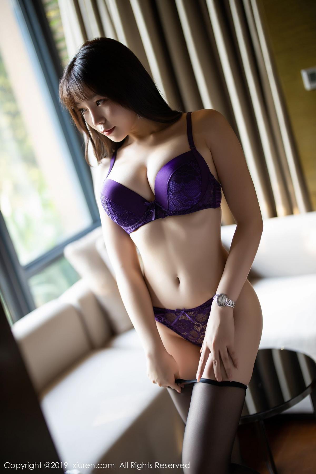 [XiaoYu] Vol.1714 Chen Zhi 38P, Big Booty, Black Silk, Chen Zhi, Underwear, XiaoYu