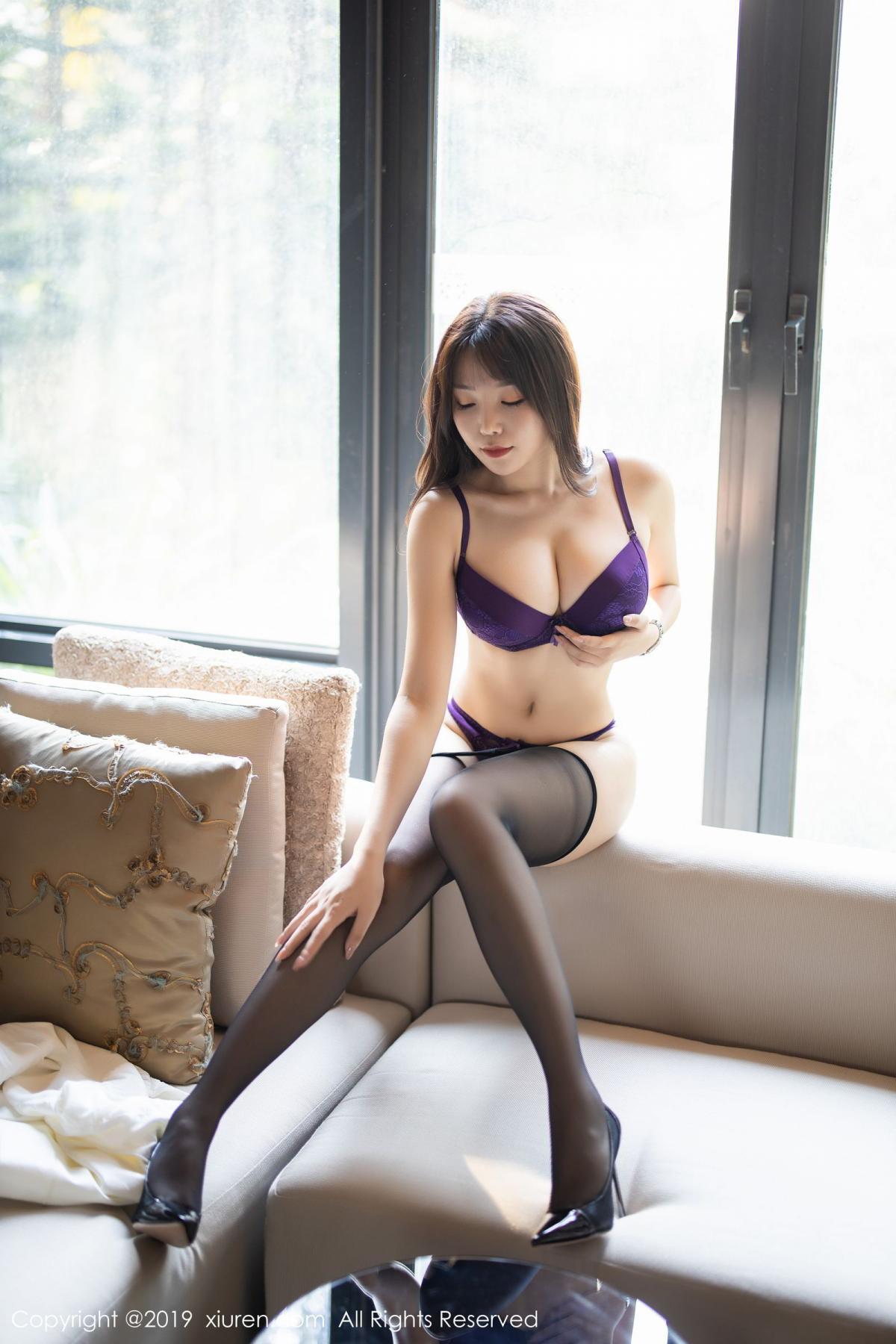 [XiaoYu] Vol.1714 Chen Zhi 40P, Big Booty, Black Silk, Chen Zhi, Underwear, XiaoYu