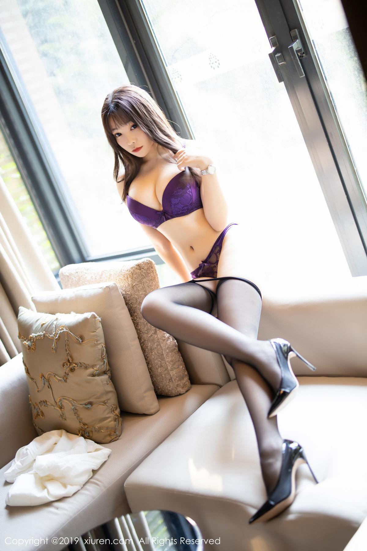 [XiaoYu] Vol.1714 Chen Zhi 43P, Big Booty, Black Silk, Chen Zhi, Underwear, XiaoYu
