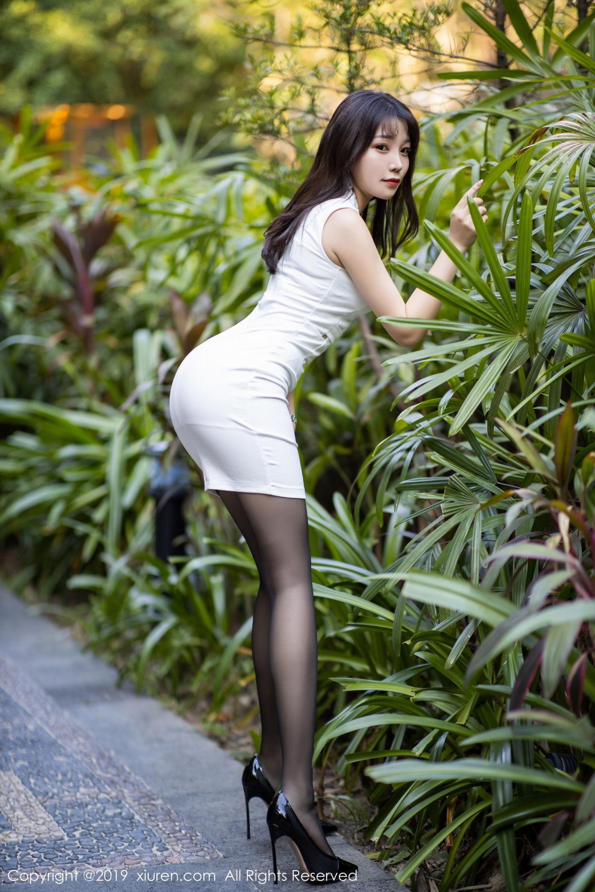 [XiaoYu] Vol.1714 Chen Zhi 4P, Big Booty, Black Silk, Chen Zhi, Underwear, XiaoYu