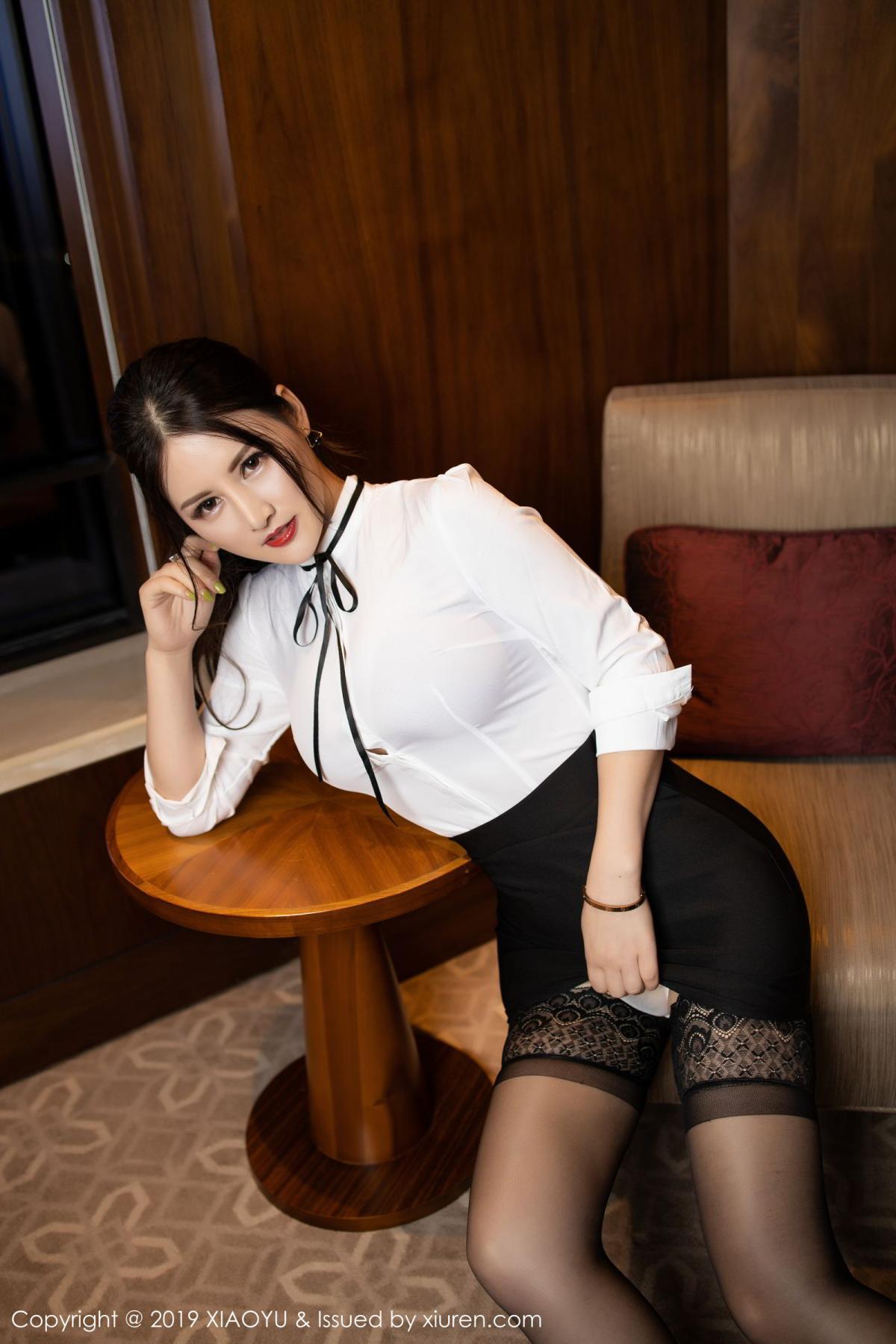 [XiaoYu] Vol.173 Chen Shi Shi 10P, Black Silk, Chen Shi Shi, Underwear, XiaoYu