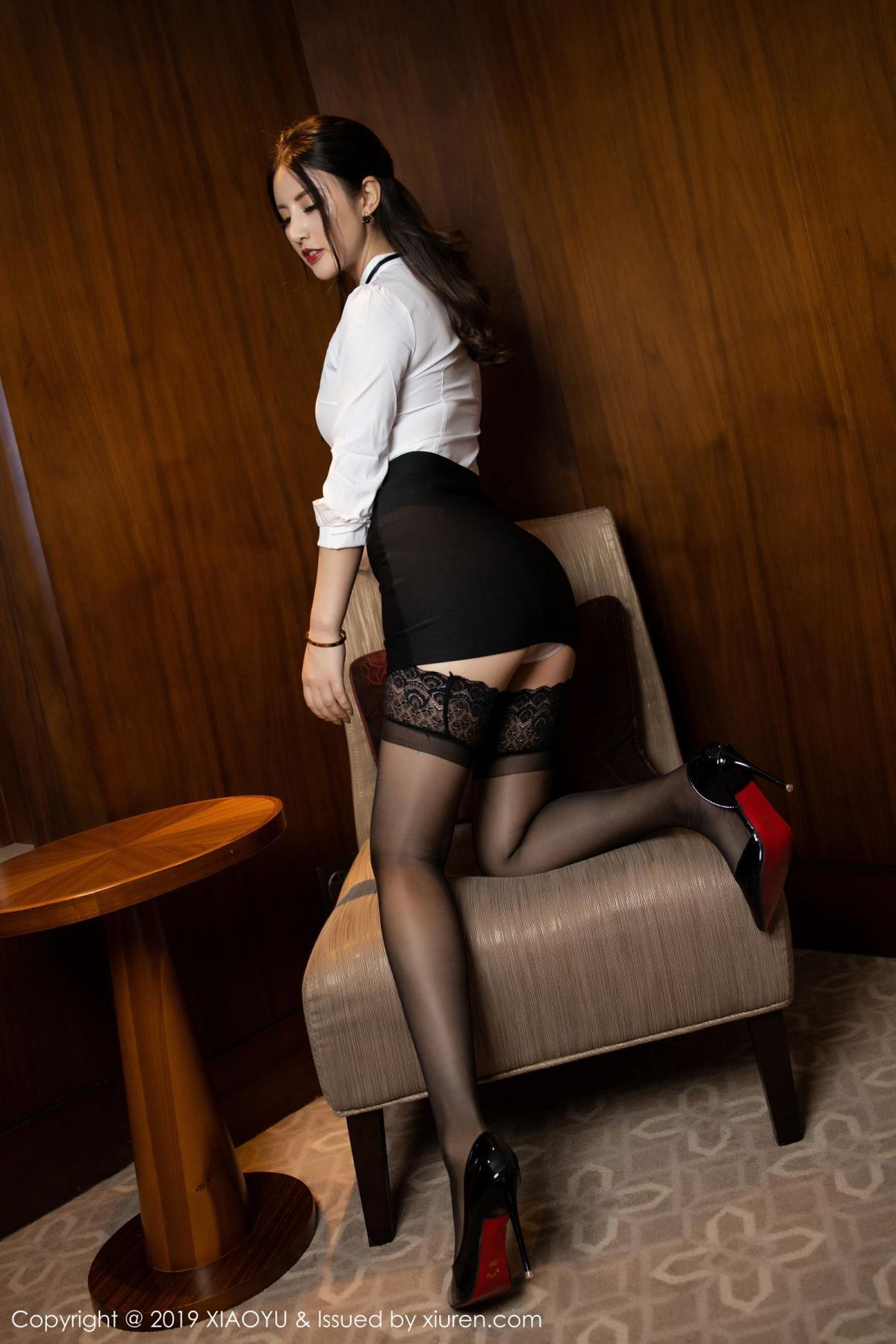 [XiaoYu] Vol.173 Chen Shi Shi 11P, Black Silk, Chen Shi Shi, Underwear, XiaoYu