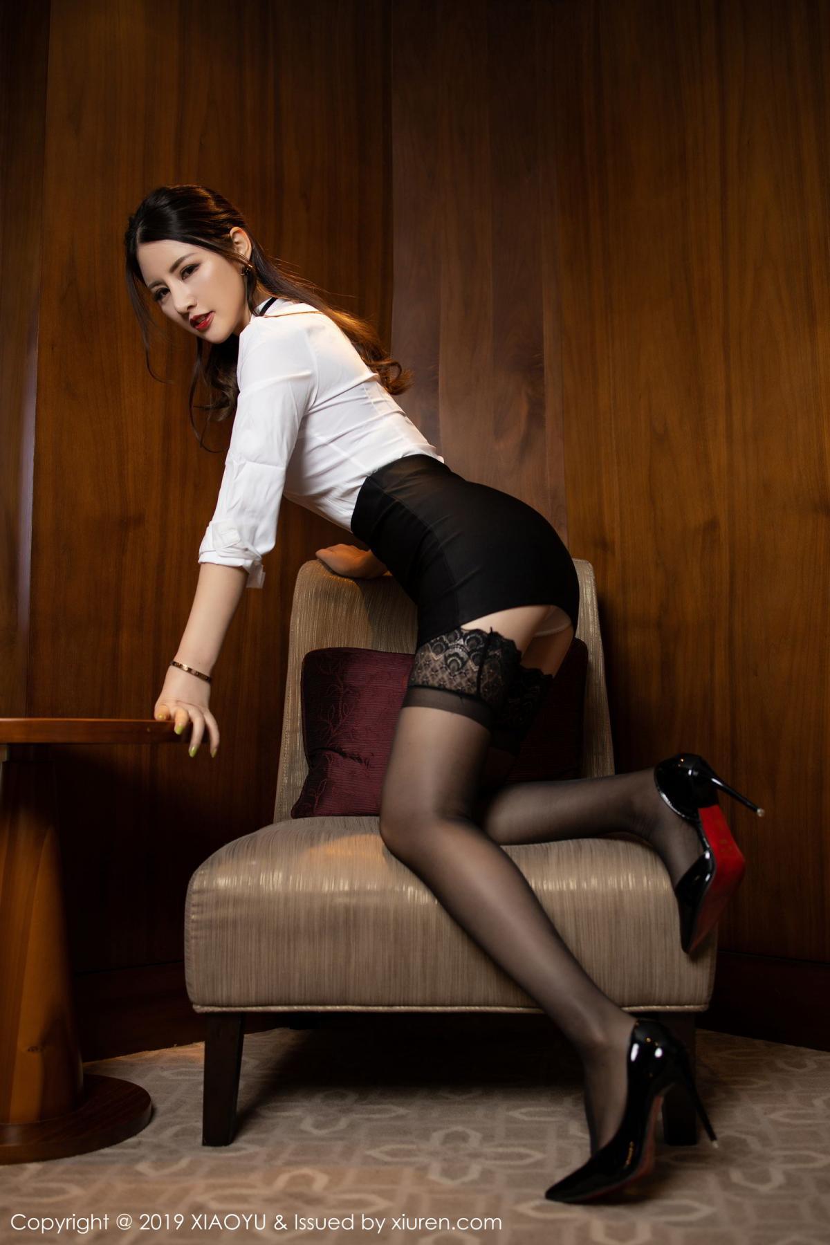 [XiaoYu] Vol.173 Chen Shi Shi 12P, Black Silk, Chen Shi Shi, Underwear, XiaoYu
