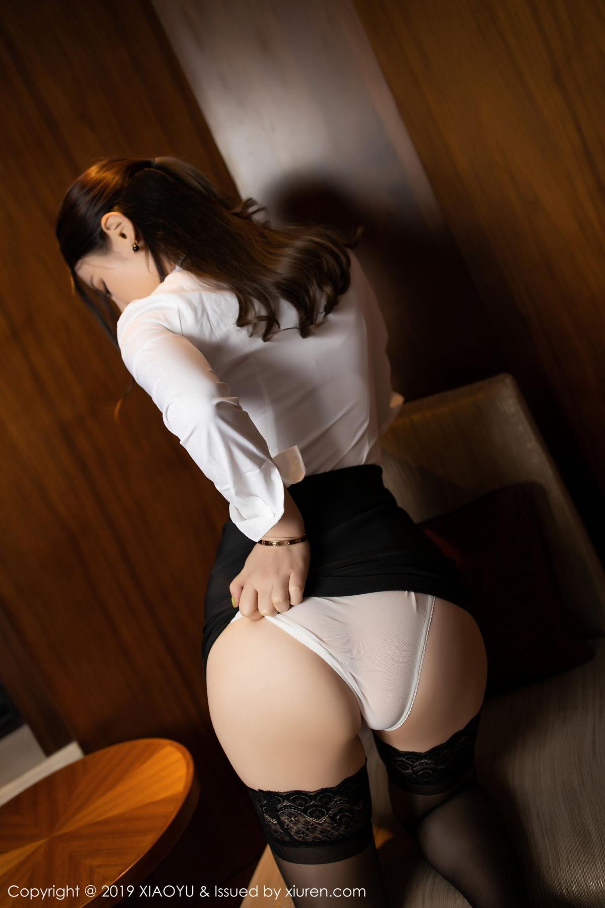 [XiaoYu] Vol.173 Chen Shi Shi 15P, Black Silk, Chen Shi Shi, Underwear, XiaoYu