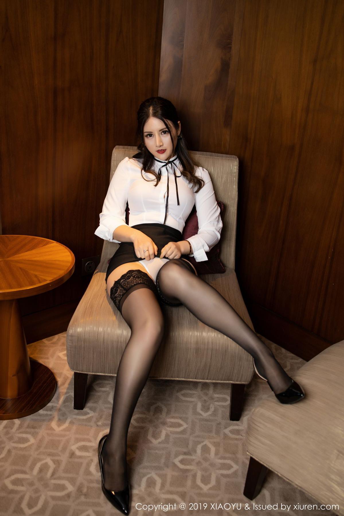 [XiaoYu] Vol.173 Chen Shi Shi 18P, Black Silk, Chen Shi Shi, Underwear, XiaoYu