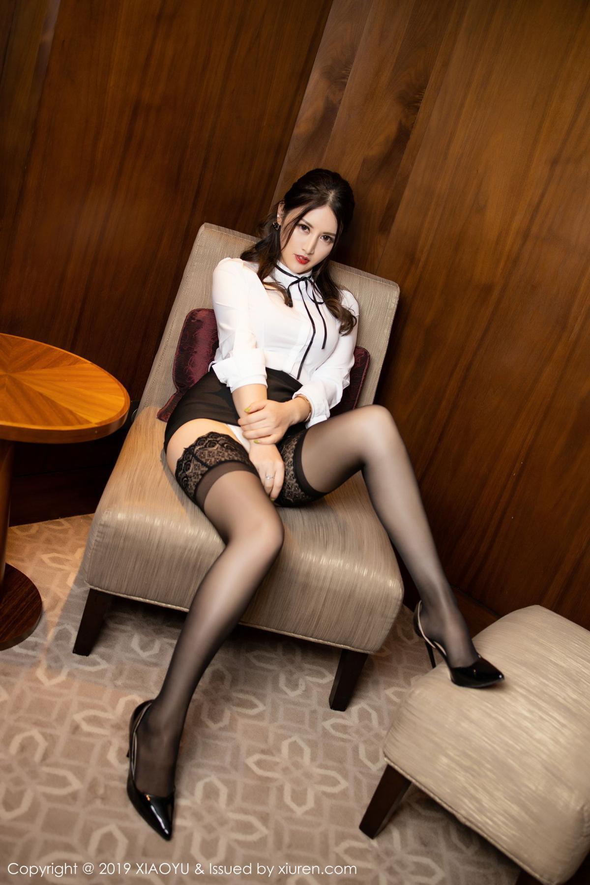 [XiaoYu] Vol.173 Chen Shi Shi 19P, Black Silk, Chen Shi Shi, Underwear, XiaoYu