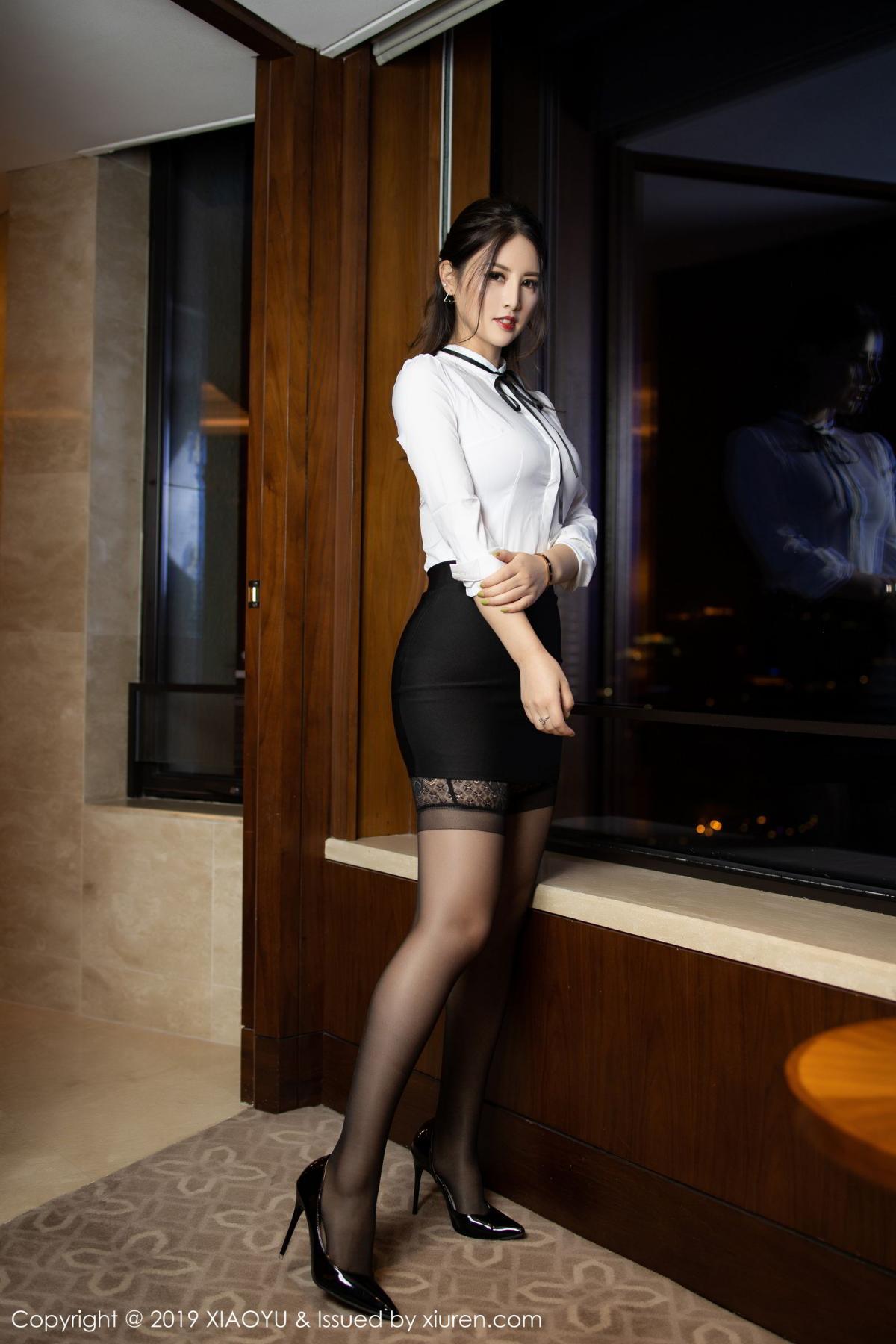 [XiaoYu] Vol.173 Chen Shi Shi 1P, Black Silk, Chen Shi Shi, Underwear, XiaoYu