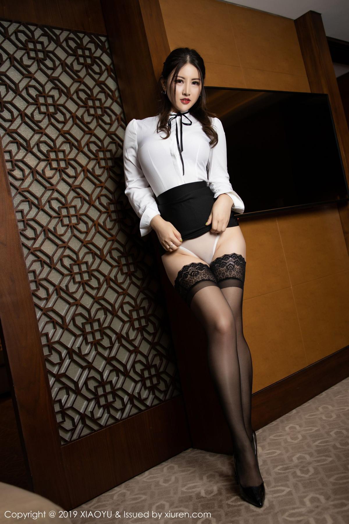[XiaoYu] Vol.173 Chen Shi Shi 28P, Black Silk, Chen Shi Shi, Underwear, XiaoYu