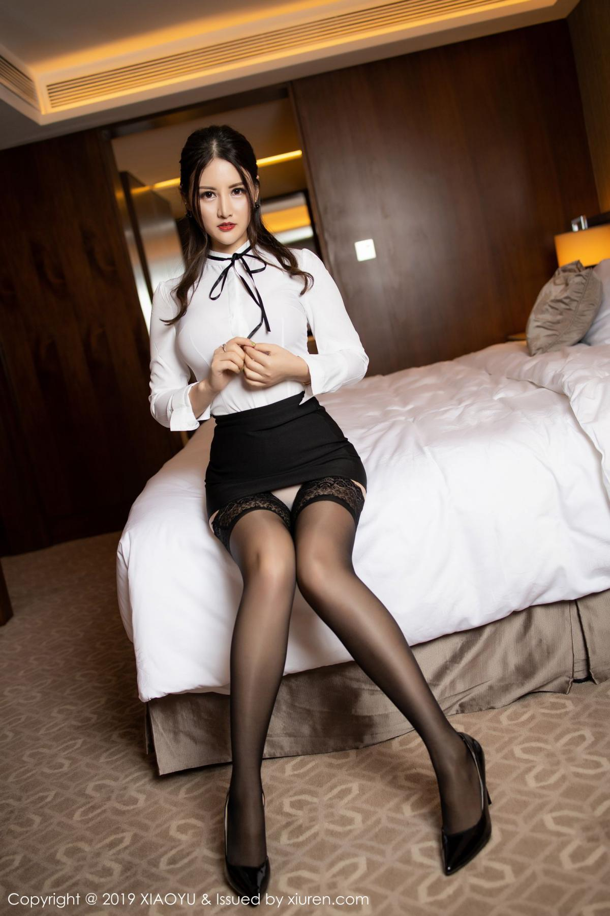 [XiaoYu] Vol.173 Chen Shi Shi 29P, Black Silk, Chen Shi Shi, Underwear, XiaoYu