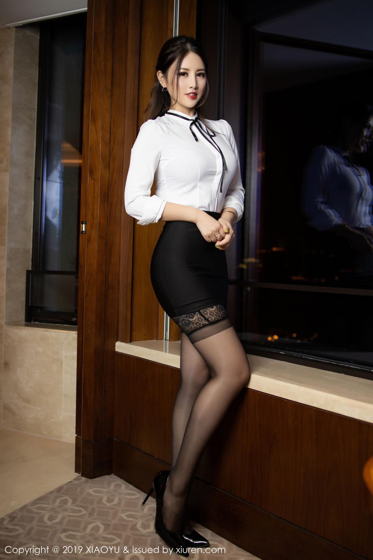 [XiaoYu] Vol.173 Chen Shi Shi 2P, Black Silk, Chen Shi Shi, Underwear, XiaoYu