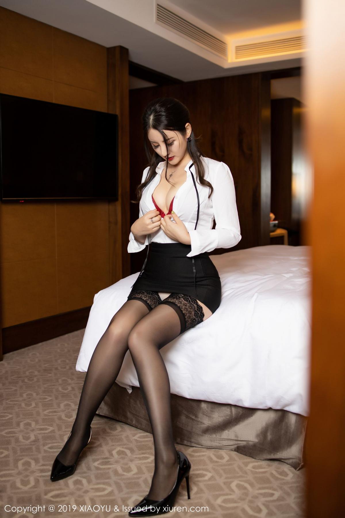 [XiaoYu] Vol.173 Chen Shi Shi 31P, Black Silk, Chen Shi Shi, Underwear, XiaoYu