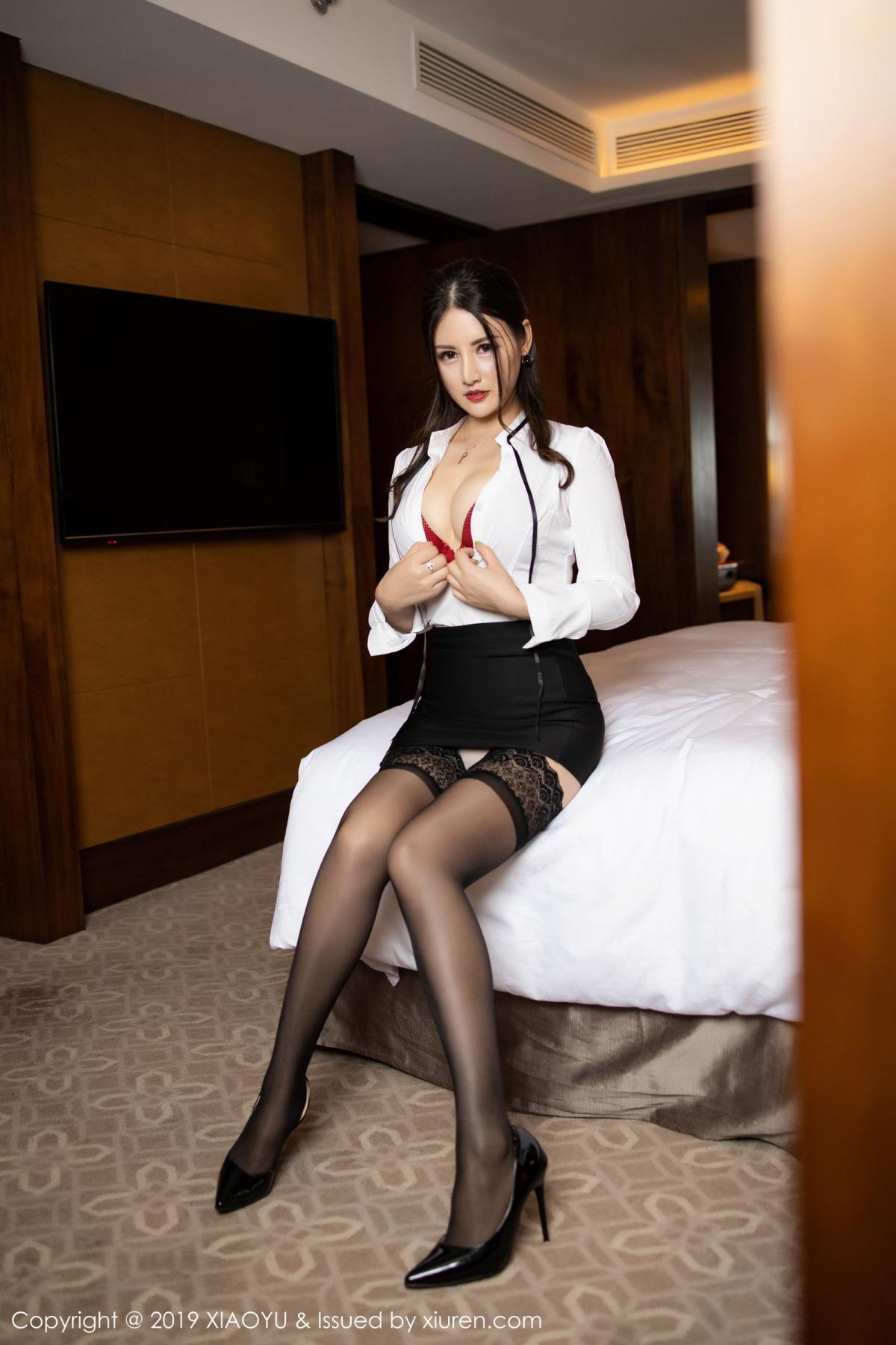 [XiaoYu] Vol.173 Chen Shi Shi 32P, Black Silk, Chen Shi Shi, Underwear, XiaoYu
