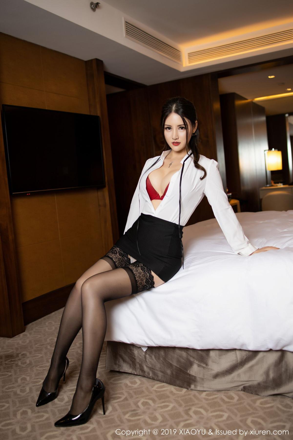 [XiaoYu] Vol.173 Chen Shi Shi 33P, Black Silk, Chen Shi Shi, Underwear, XiaoYu