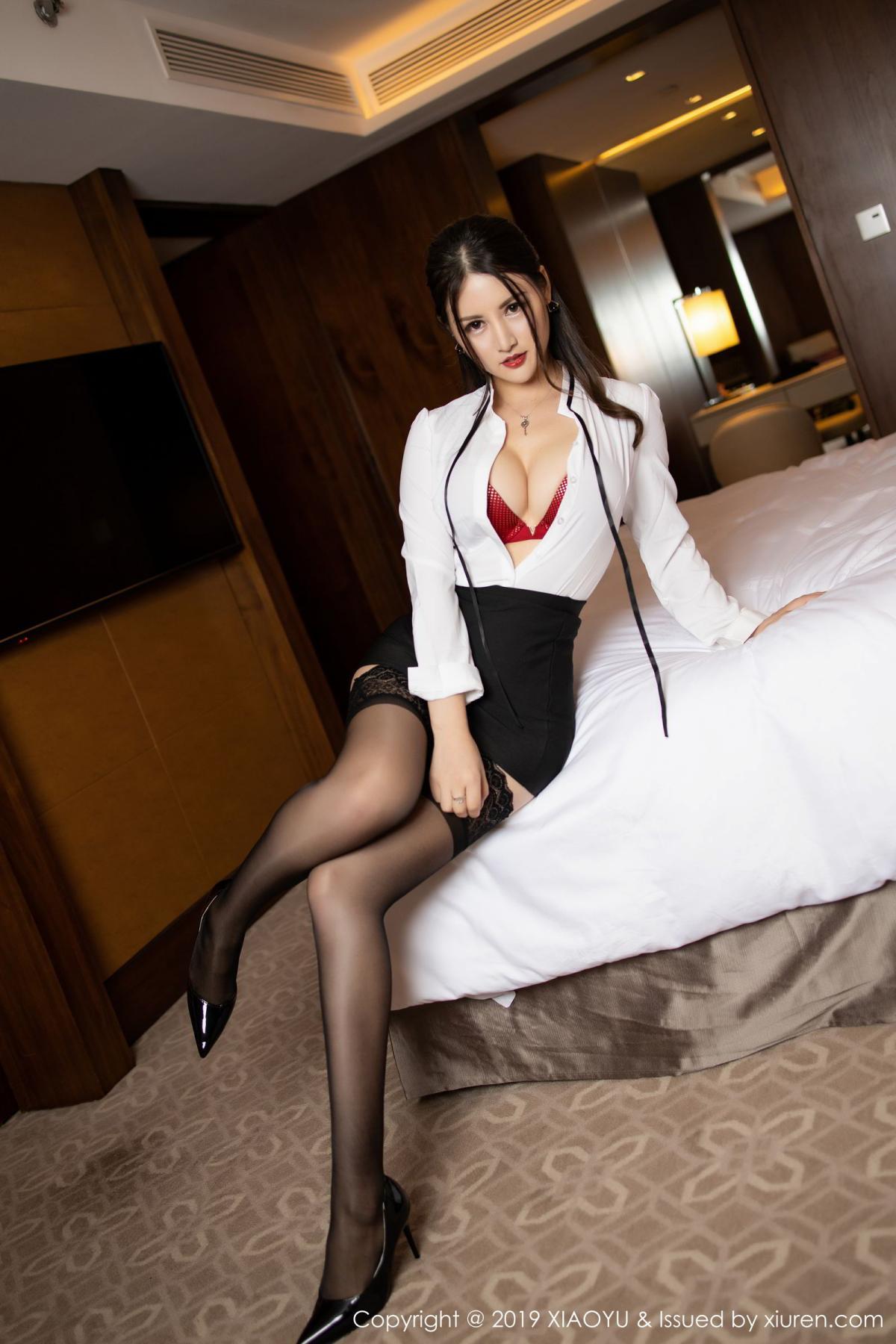[XiaoYu] Vol.173 Chen Shi Shi 34P, Black Silk, Chen Shi Shi, Underwear, XiaoYu