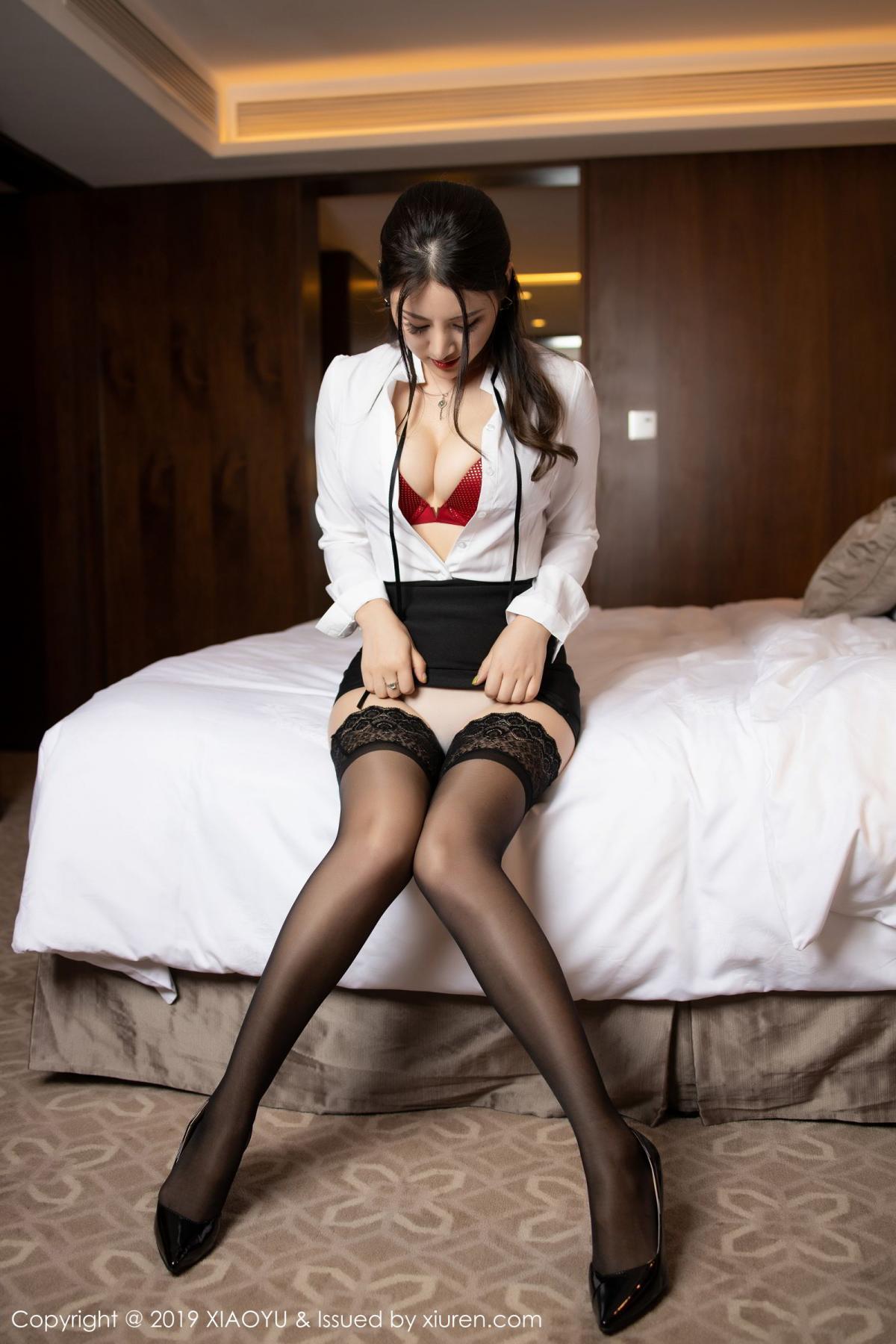 [XiaoYu] Vol.173 Chen Shi Shi 37P, Black Silk, Chen Shi Shi, Underwear, XiaoYu