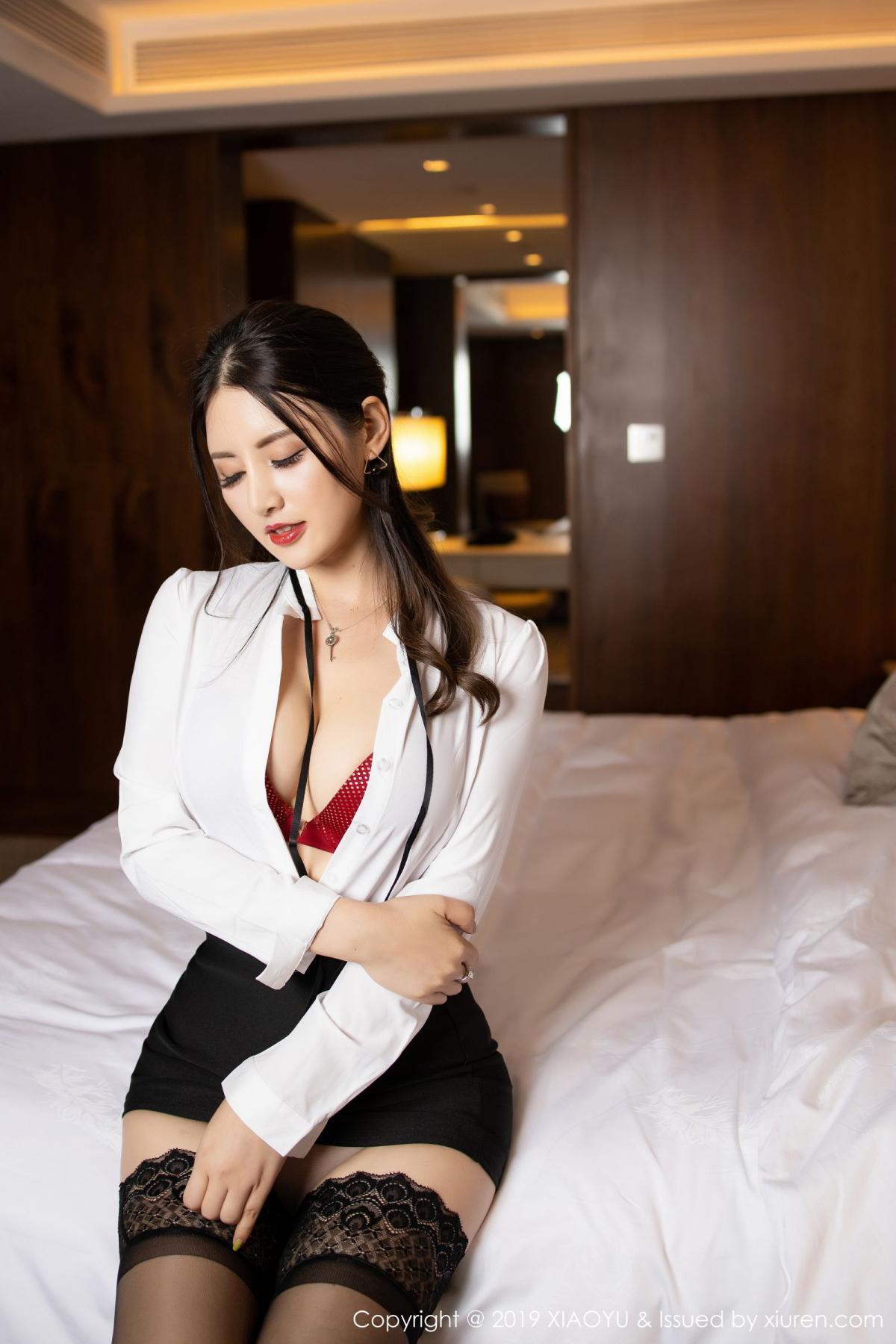 [XiaoYu] Vol.173 Chen Shi Shi 38P, Black Silk, Chen Shi Shi, Underwear, XiaoYu
