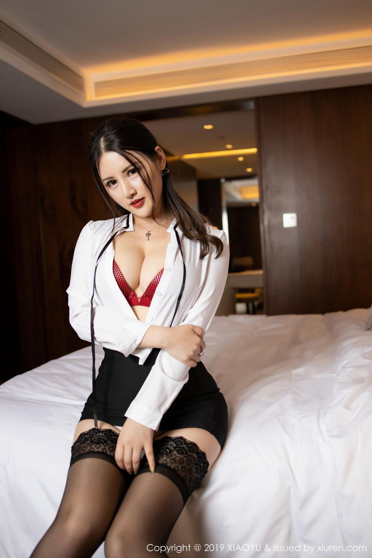 [XiaoYu] Vol.173 Chen Shi Shi 39P, Black Silk, Chen Shi Shi, Underwear, XiaoYu
