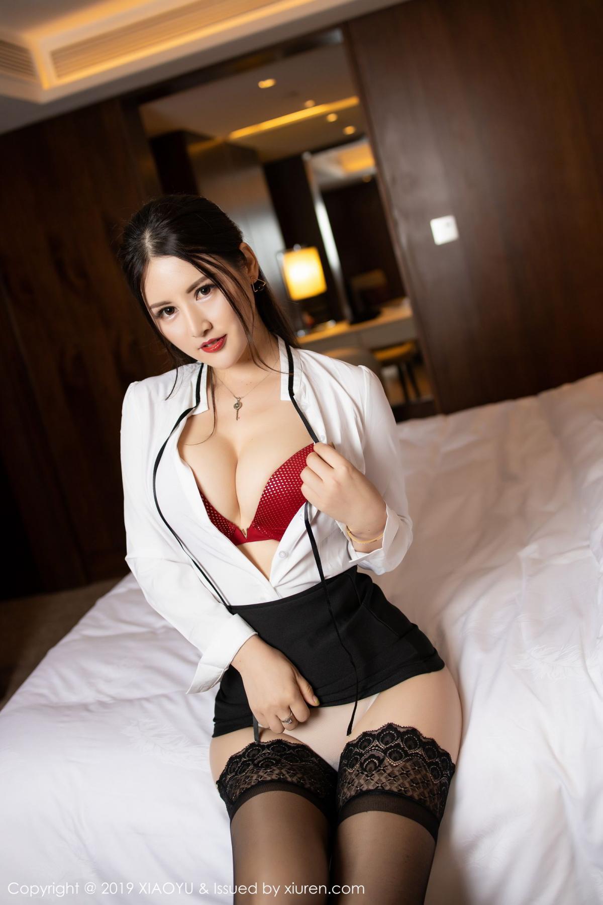 [XiaoYu] Vol.173 Chen Shi Shi 41P, Black Silk, Chen Shi Shi, Underwear, XiaoYu