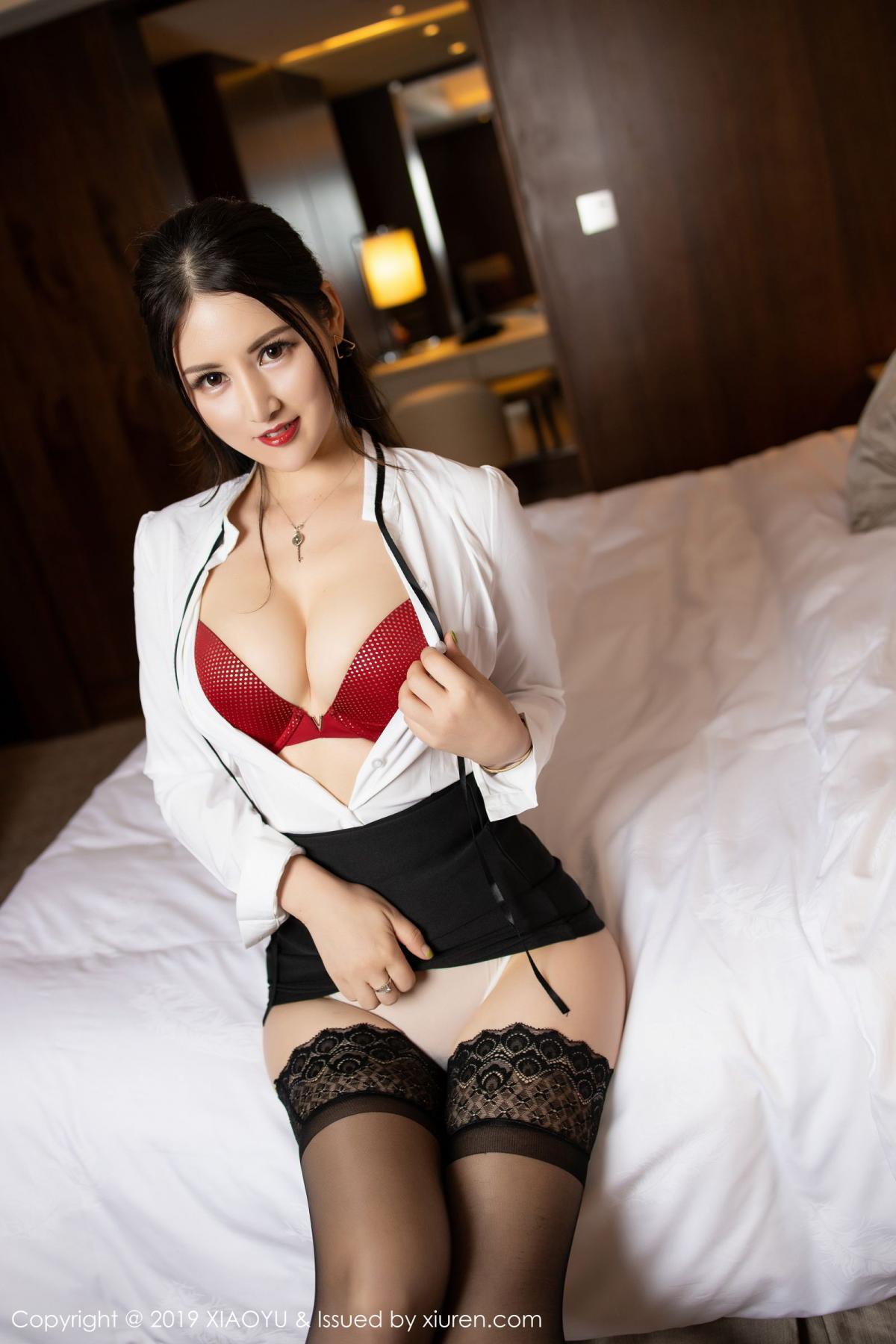 [XiaoYu] Vol.173 Chen Shi Shi 42P, Black Silk, Chen Shi Shi, Underwear, XiaoYu