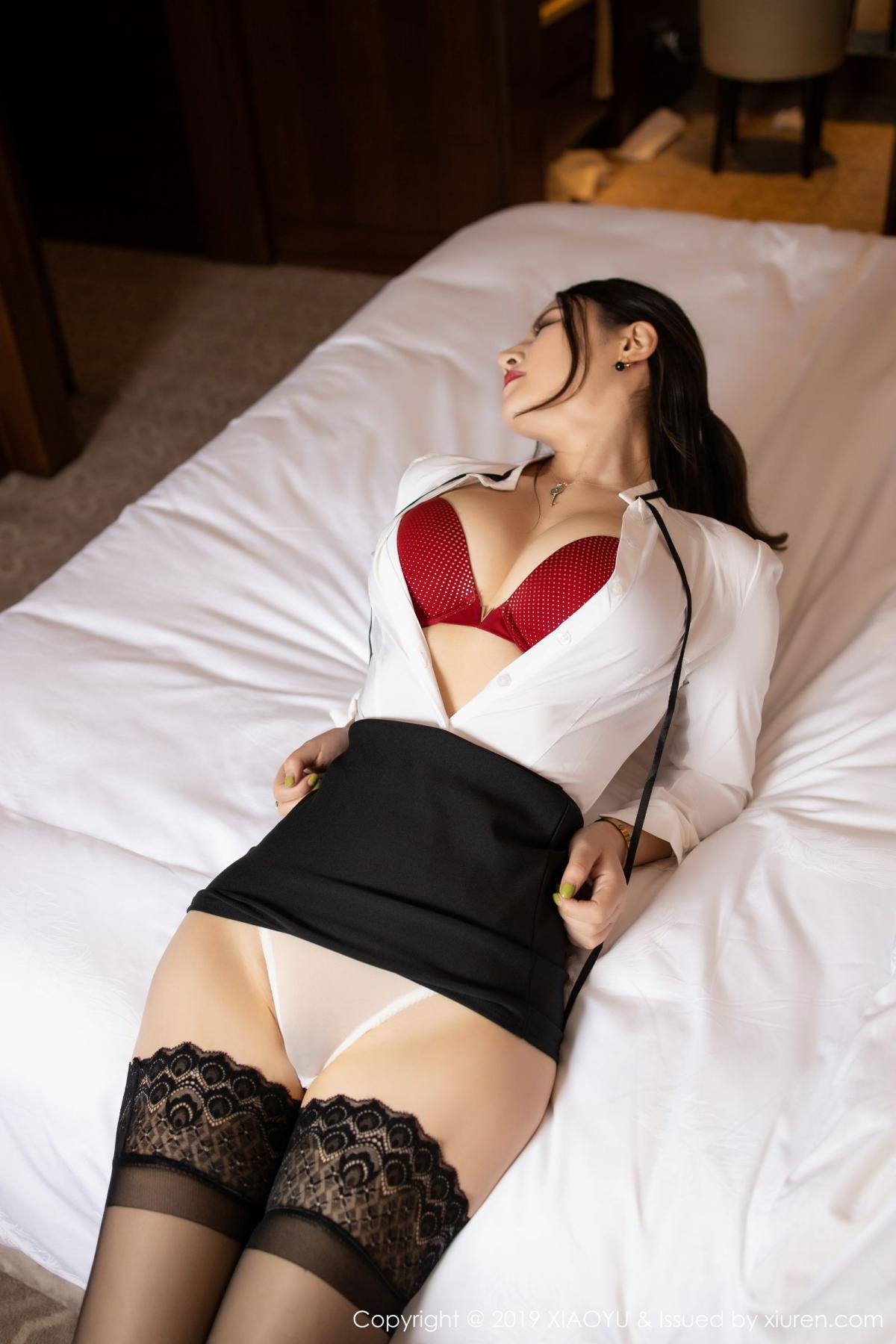 [XiaoYu] Vol.173 Chen Shi Shi 43P, Black Silk, Chen Shi Shi, Underwear, XiaoYu