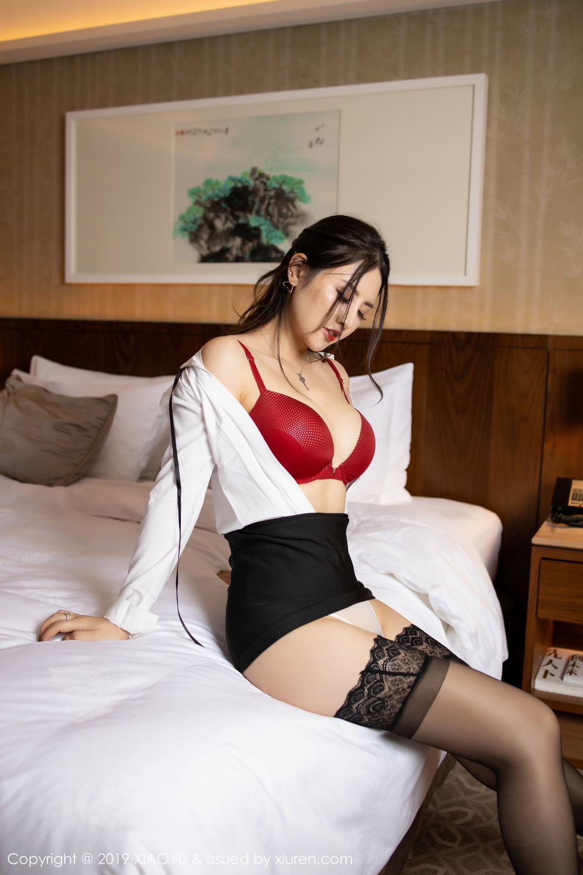 [XiaoYu] Vol.173 Chen Shi Shi 44P, Black Silk, Chen Shi Shi, Underwear, XiaoYu