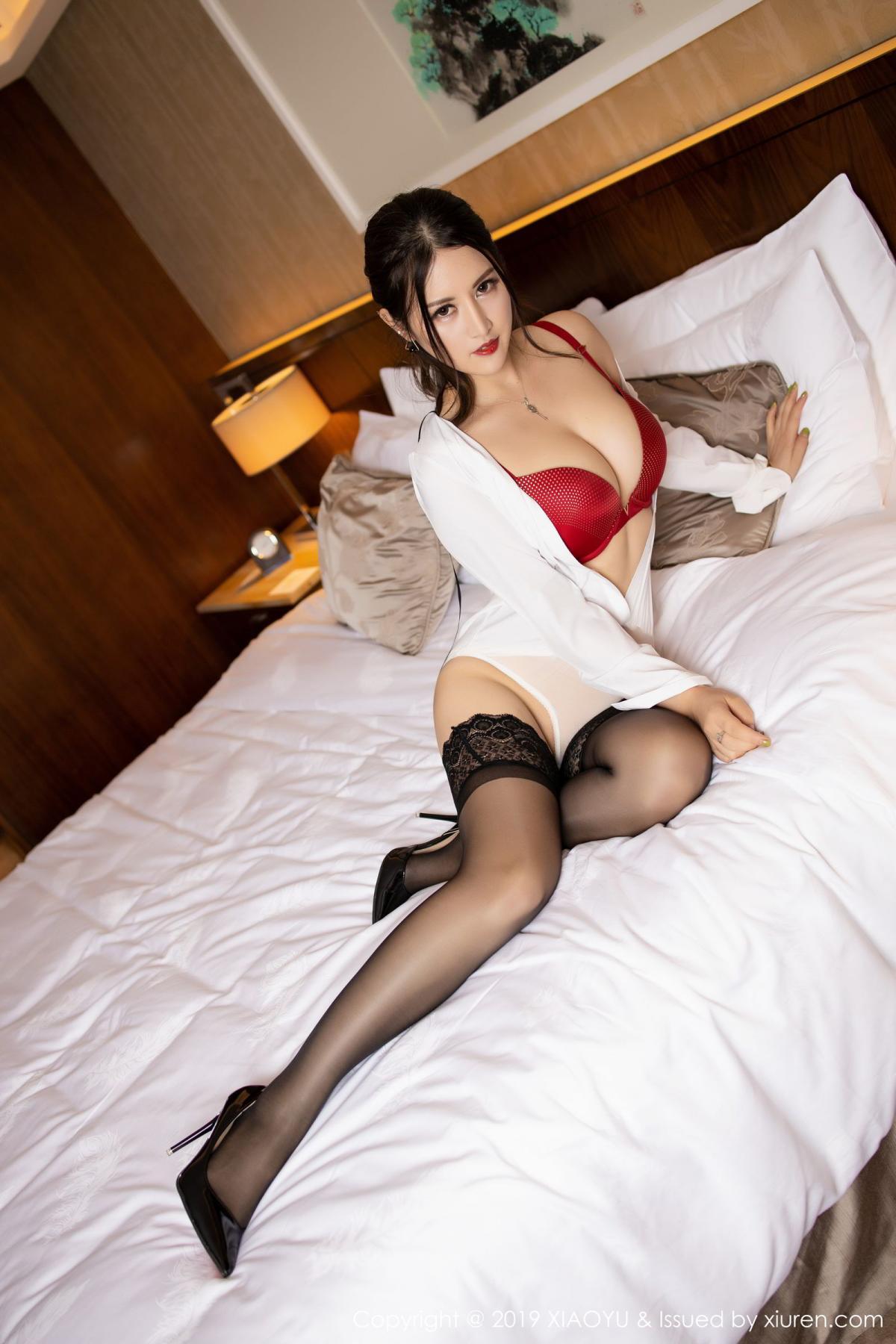 [XiaoYu] Vol.173 Chen Shi Shi 48P, Black Silk, Chen Shi Shi, Underwear, XiaoYu