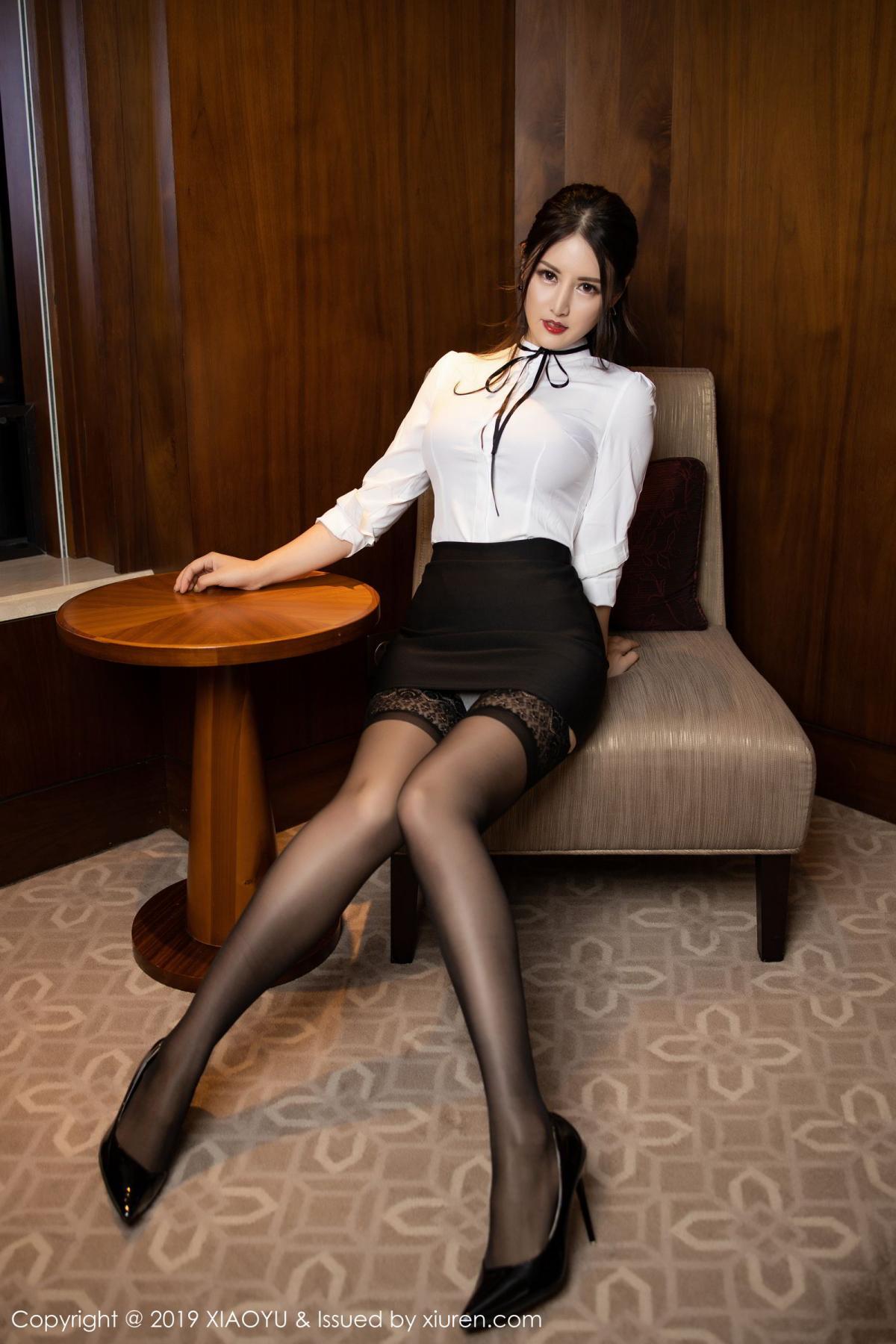 [XiaoYu] Vol.173 Chen Shi Shi 4P, Black Silk, Chen Shi Shi, Underwear, XiaoYu