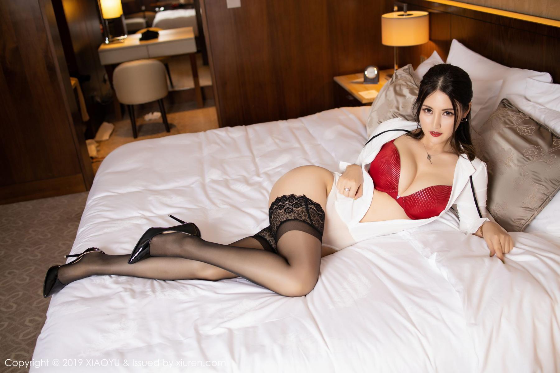[XiaoYu] Vol.173 Chen Shi Shi 50P, Black Silk, Chen Shi Shi, Underwear, XiaoYu