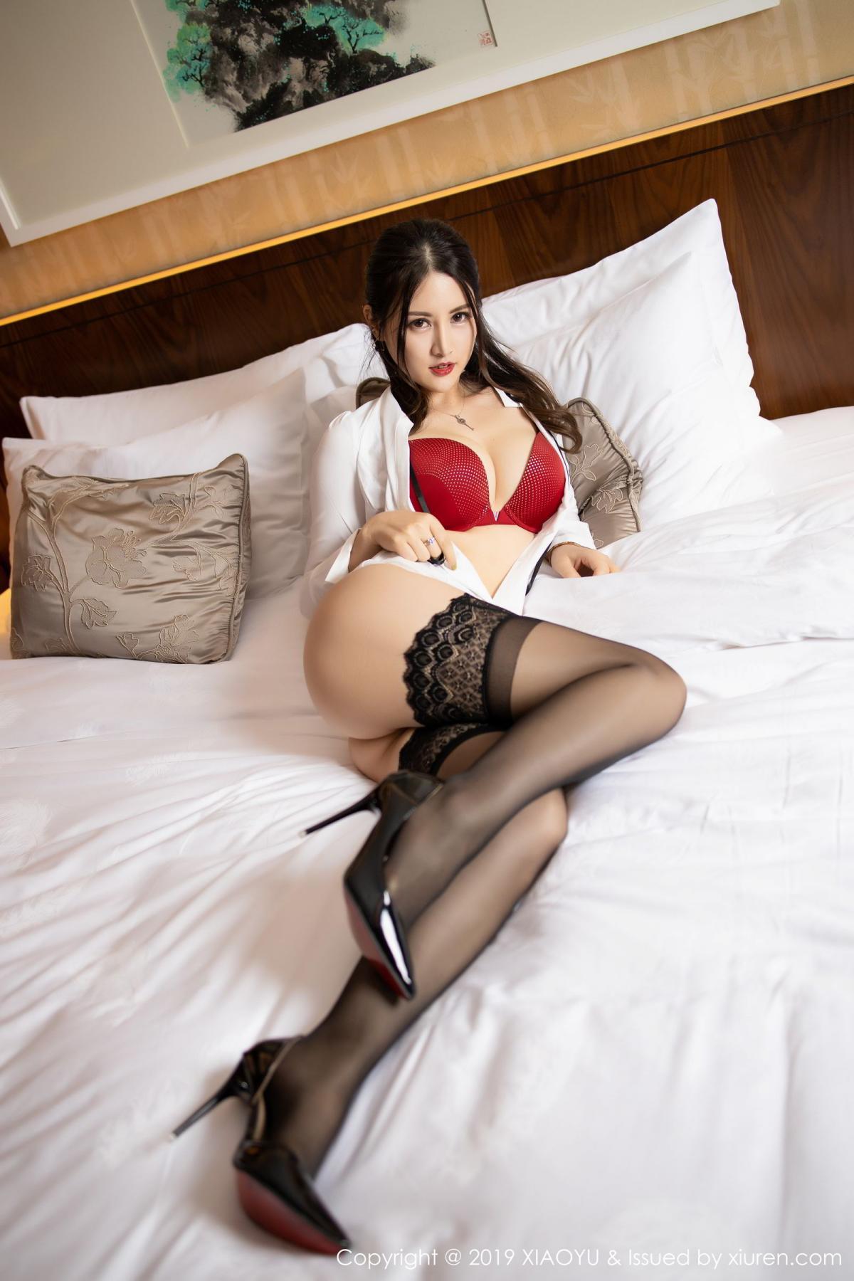 [XiaoYu] Vol.173 Chen Shi Shi 53P, Black Silk, Chen Shi Shi, Underwear, XiaoYu