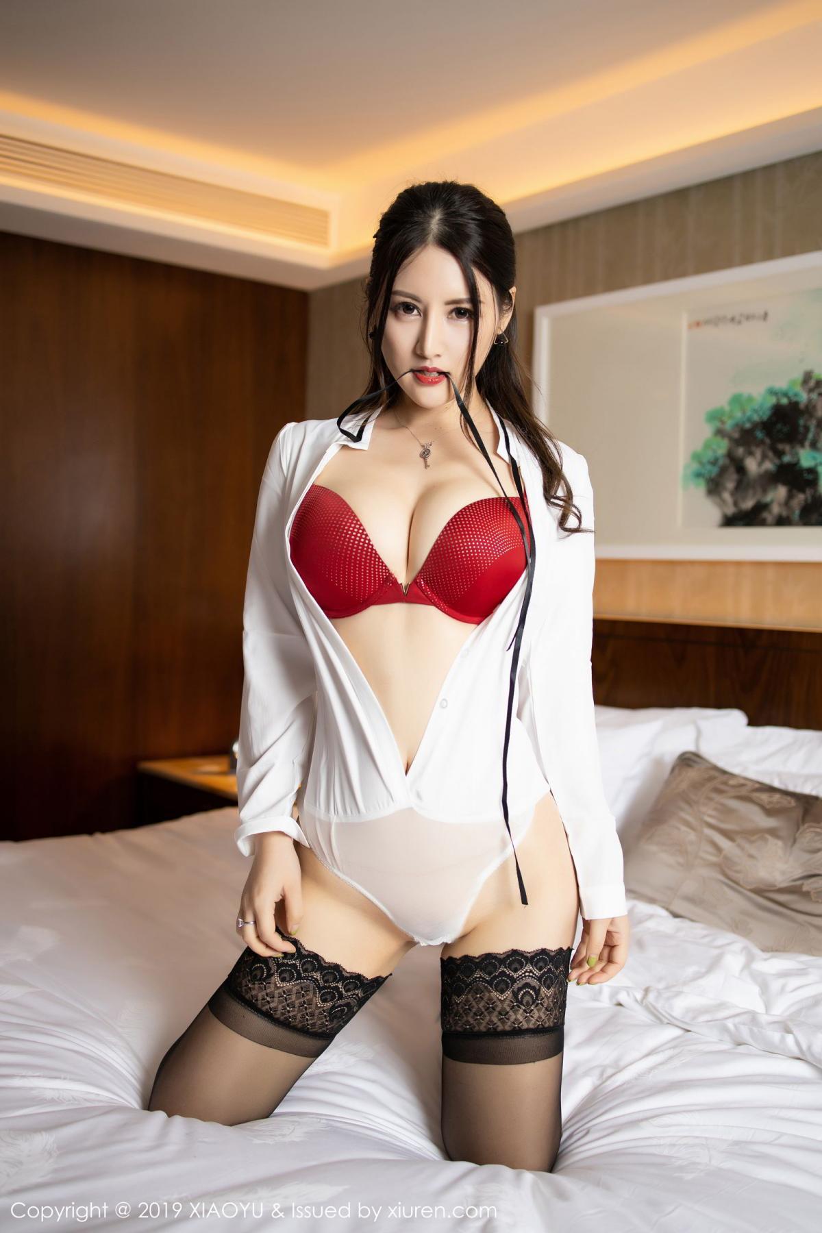 [XiaoYu] Vol.173 Chen Shi Shi 55P, Black Silk, Chen Shi Shi, Underwear, XiaoYu