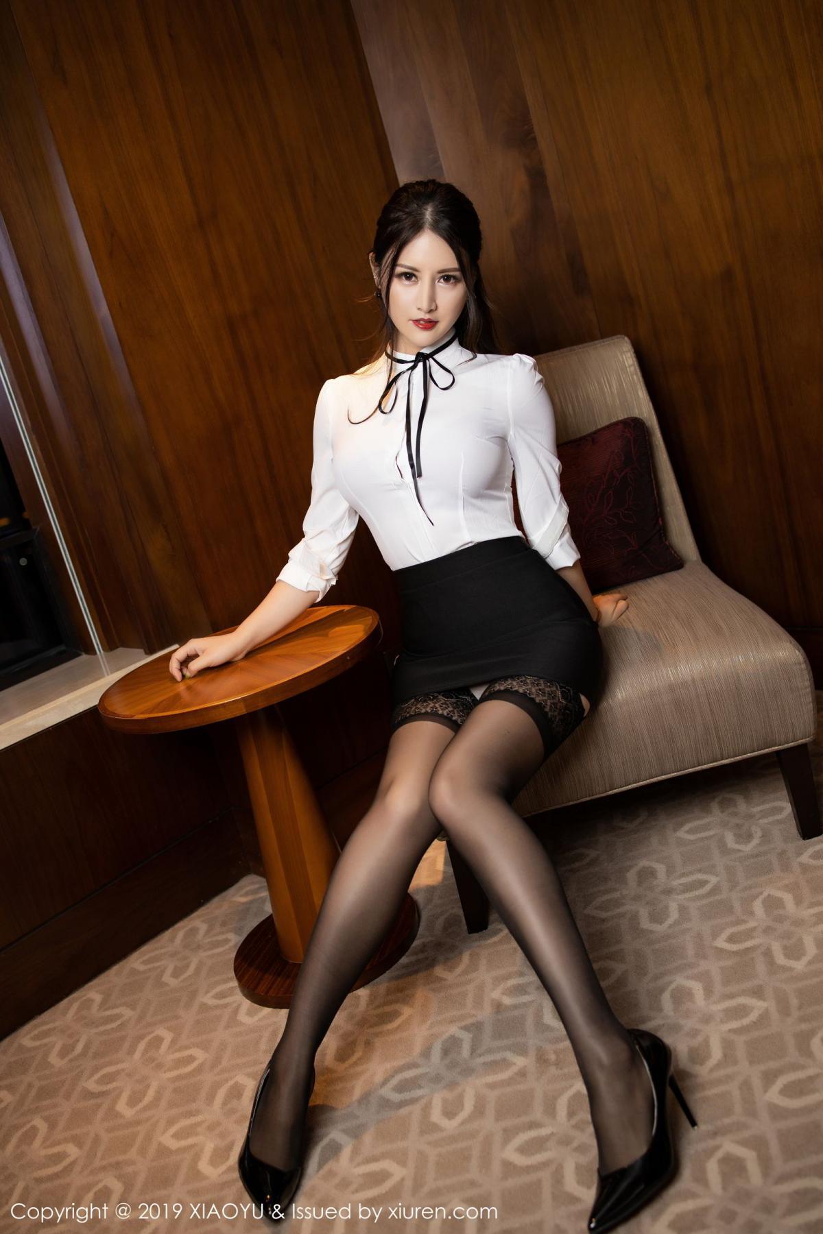 [XiaoYu] Vol.173 Chen Shi Shi 5P, Black Silk, Chen Shi Shi, Underwear, XiaoYu
