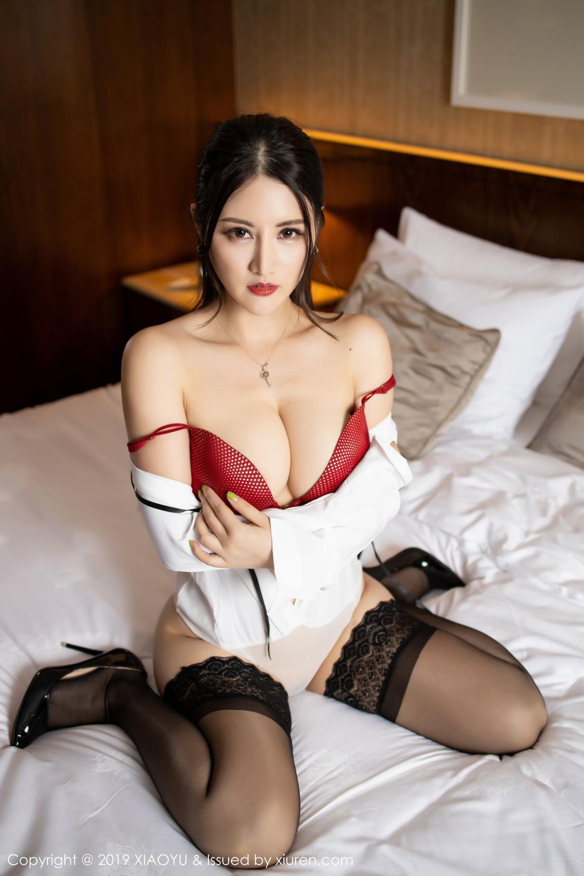 [XiaoYu] Vol.173 Chen Shi Shi 61P, Black Silk, Chen Shi Shi, Underwear, XiaoYu