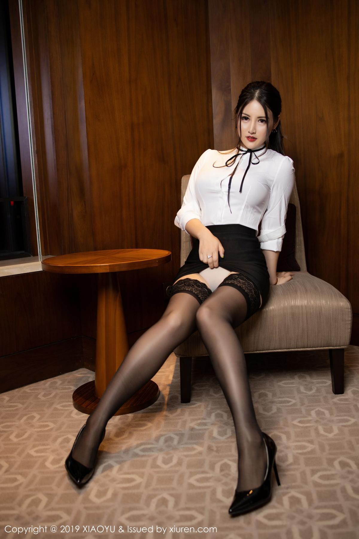 [XiaoYu] Vol.173 Chen Shi Shi 6P, Black Silk, Chen Shi Shi, Underwear, XiaoYu
