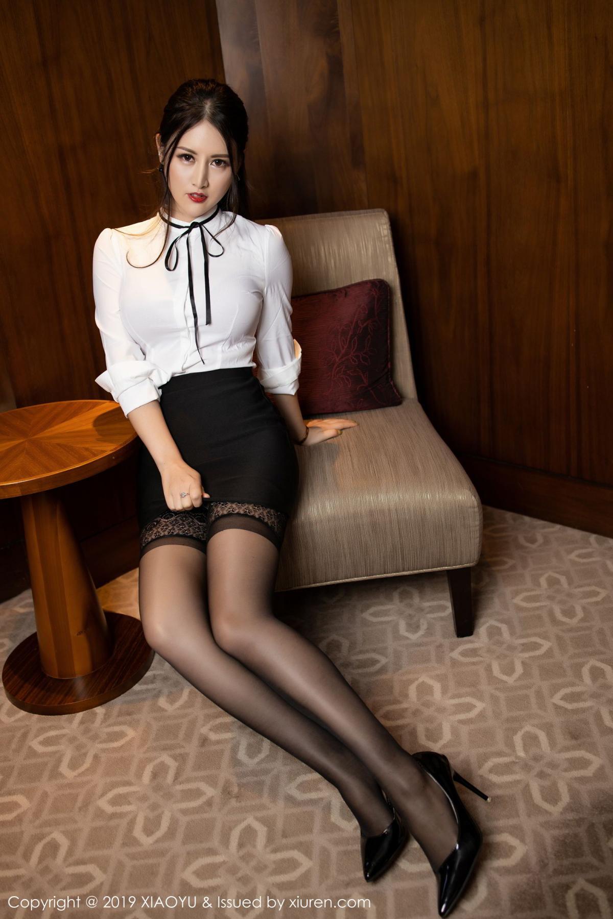 [XiaoYu] Vol.173 Chen Shi Shi 7P, Black Silk, Chen Shi Shi, Underwear, XiaoYu
