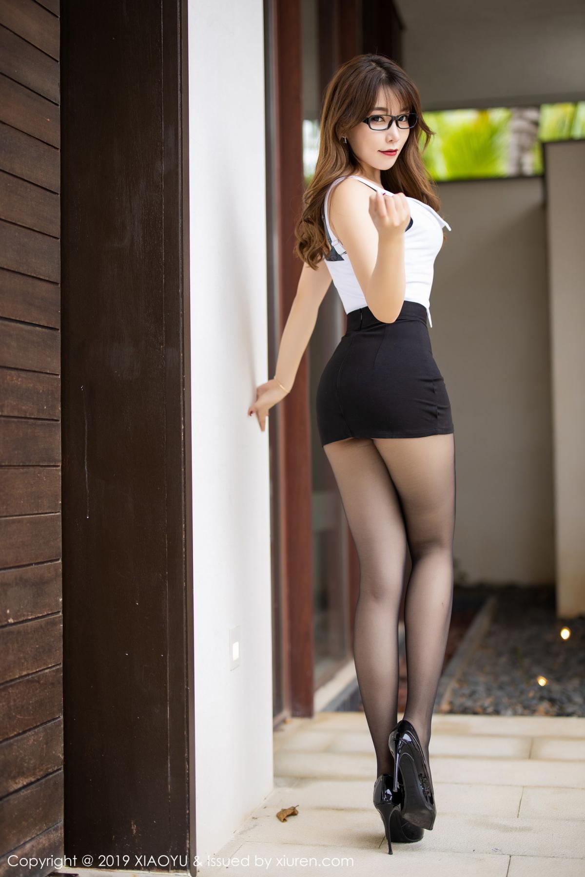 [XiaoYu] Vol.179 Chen Zhi 11P, Black Silk, Chen Zhi, Sexy, Tall, XiaoYu