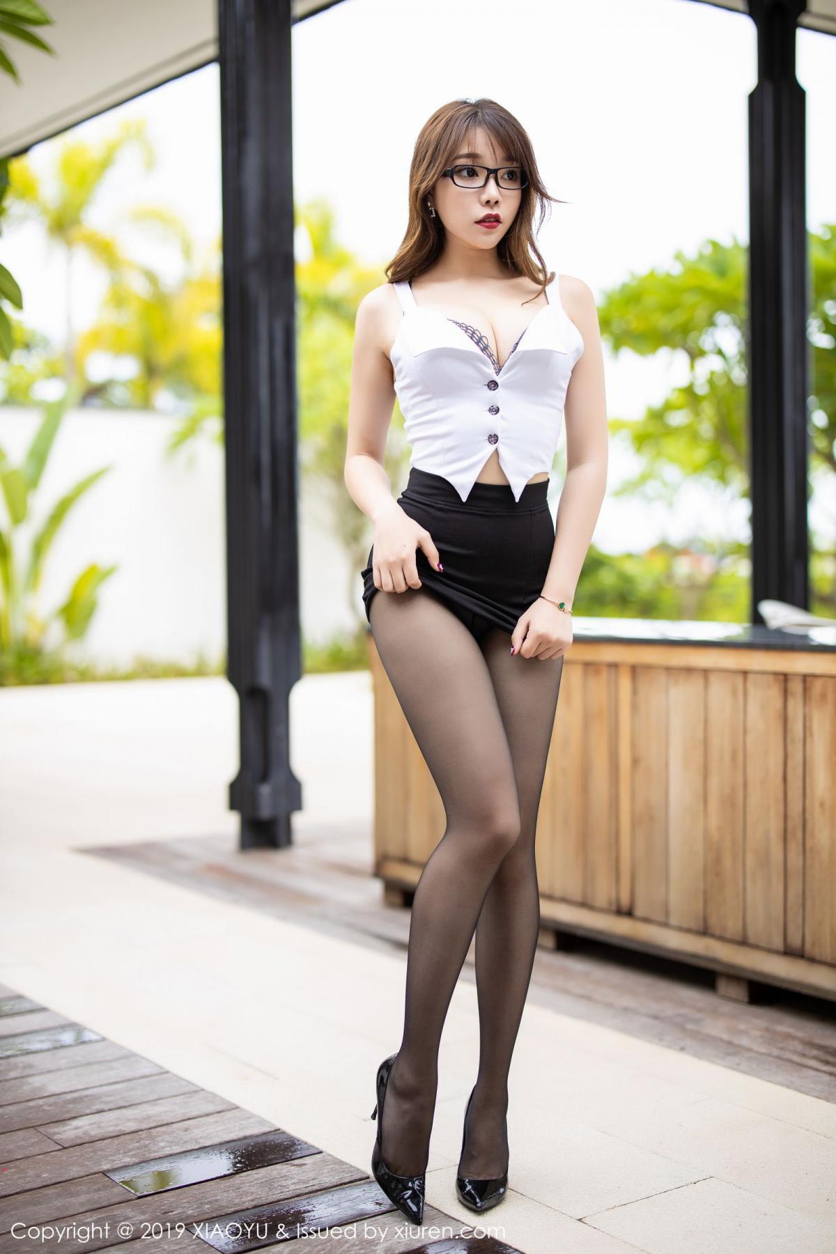 [XiaoYu] Vol.179 Chen Zhi 18P, Black Silk, Chen Zhi, Sexy, Tall, XiaoYu