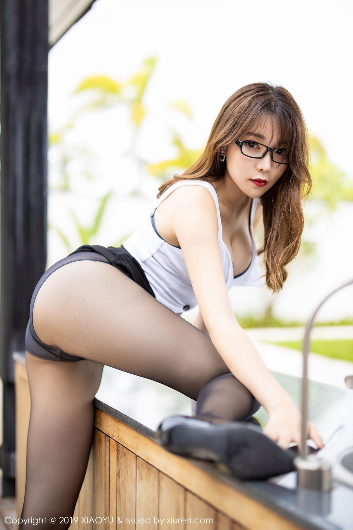 [XiaoYu] Vol.179 Chen Zhi 23P, Black Silk, Chen Zhi, Sexy, Tall, XiaoYu