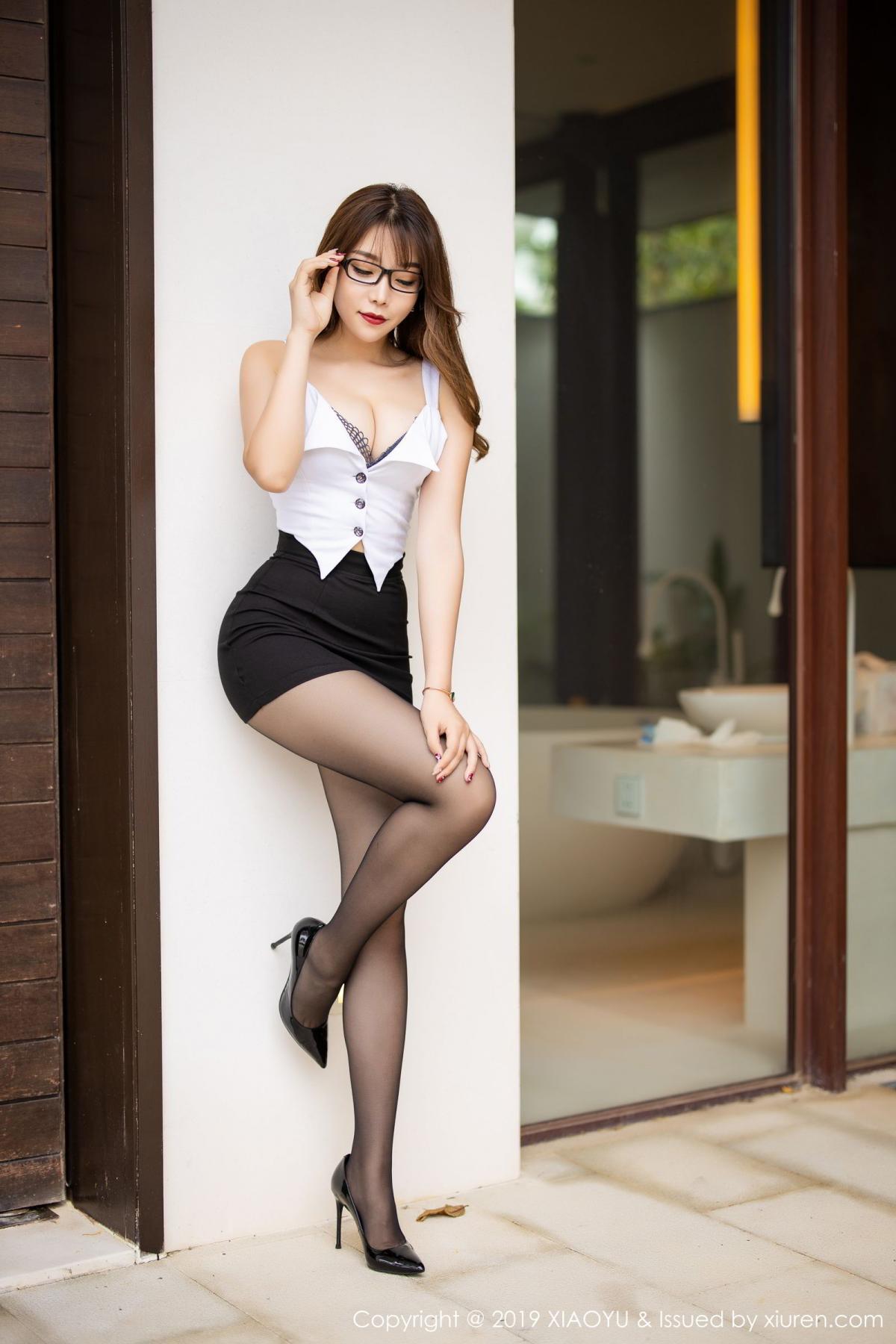 [XiaoYu] Vol.179 Chen Zhi 3P, Black Silk, Chen Zhi, Sexy, Tall, XiaoYu