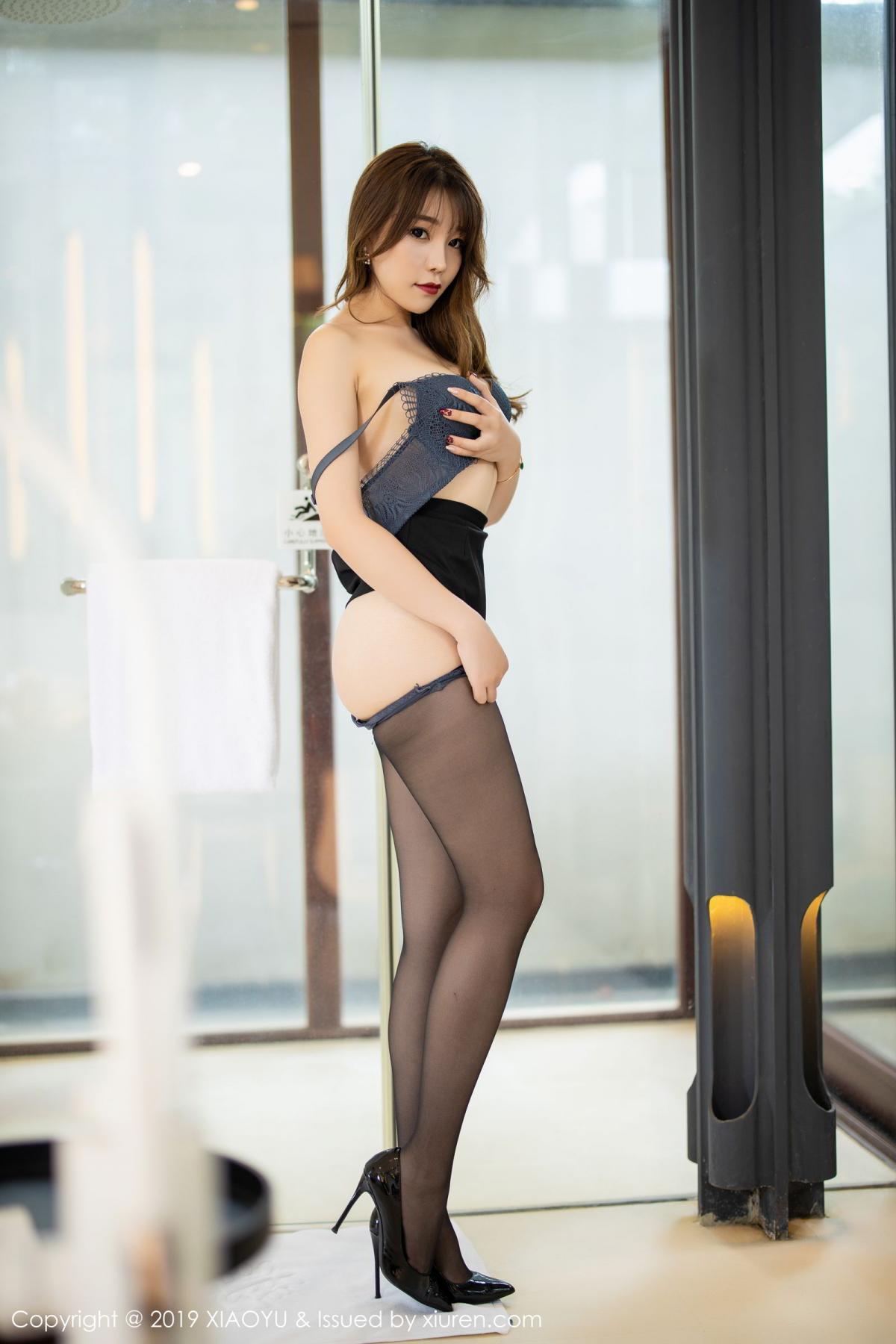 [XiaoYu] Vol.179 Chen Zhi 61P, Black Silk, Chen Zhi, Sexy, Tall, XiaoYu