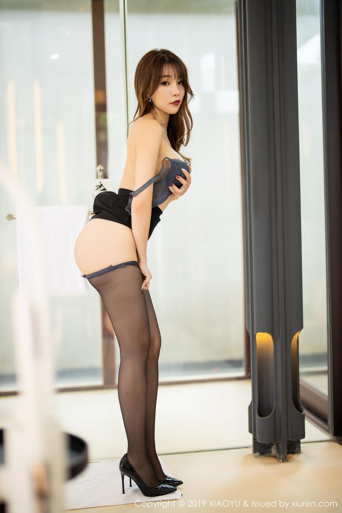 [XiaoYu] Vol.179 Chen Zhi 62P, Black Silk, Chen Zhi, Sexy, Tall, XiaoYu