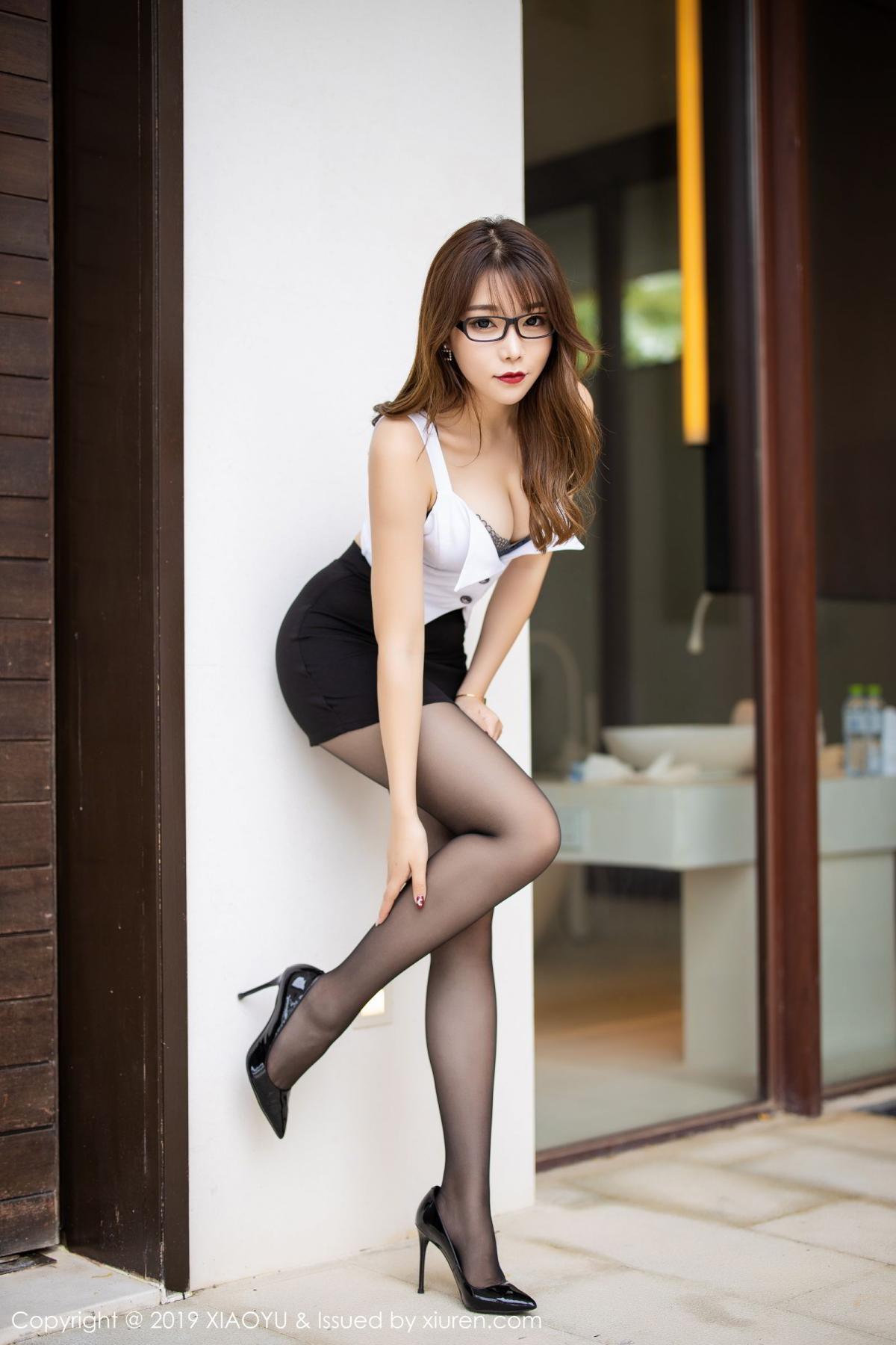 [XiaoYu] Vol.179 Chen Zhi 6P, Black Silk, Chen Zhi, Sexy, Tall, XiaoYu
