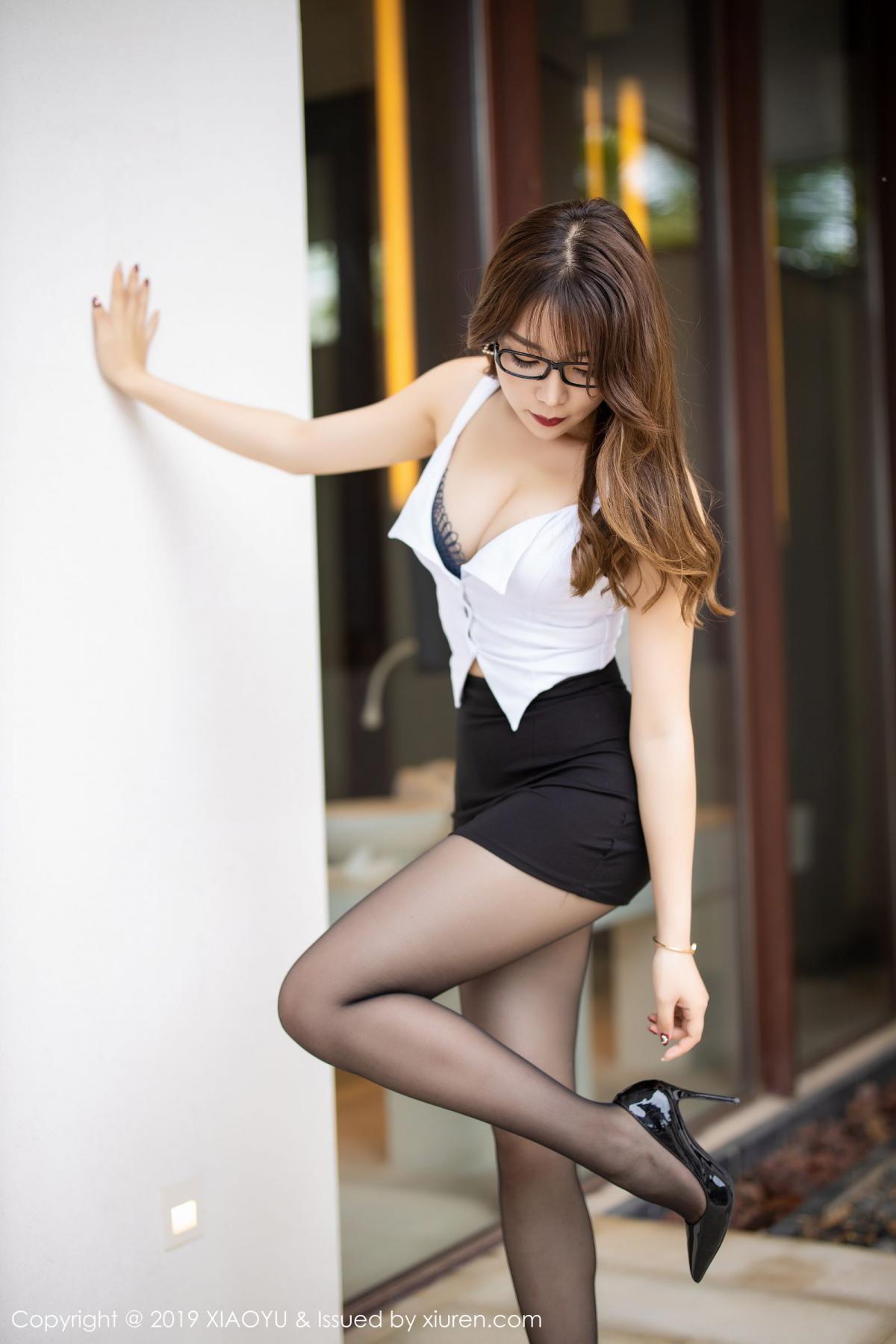 [XiaoYu] Vol.179 Chen Zhi 8P, Black Silk, Chen Zhi, Sexy, Tall, XiaoYu