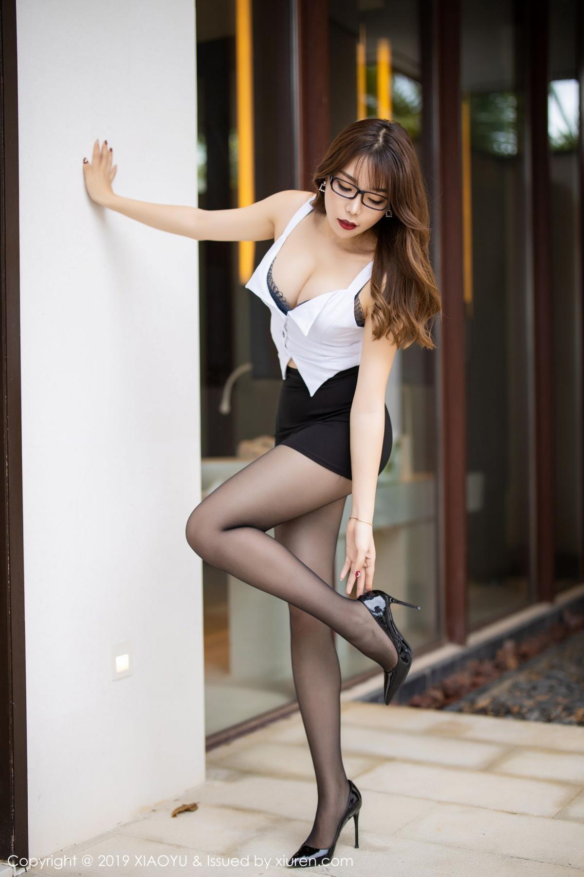 [XiaoYu] Vol.179 Chen Zhi 9P, Black Silk, Chen Zhi, Sexy, Tall, XiaoYu