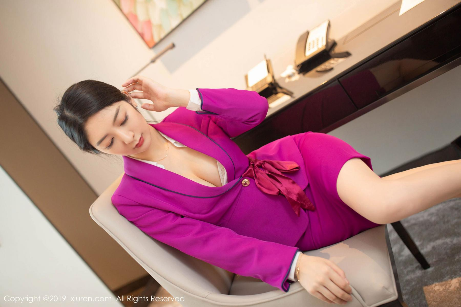 [XiaoYu] Vol.1799 Xiao Re Ba 21P, Di Yi, Stewardess, Underwear, XiaoYu