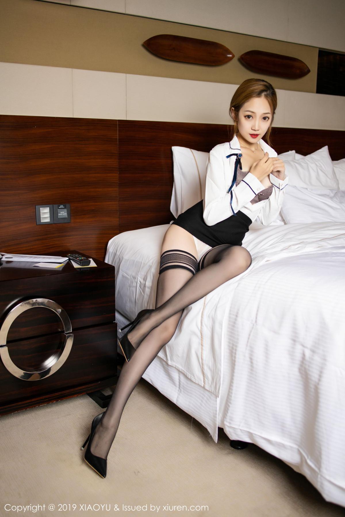 [XiaoYu] Vol.181 Yuner Claire 20P, Black Silk, Underwear, XiaoYu, Yuner Claire