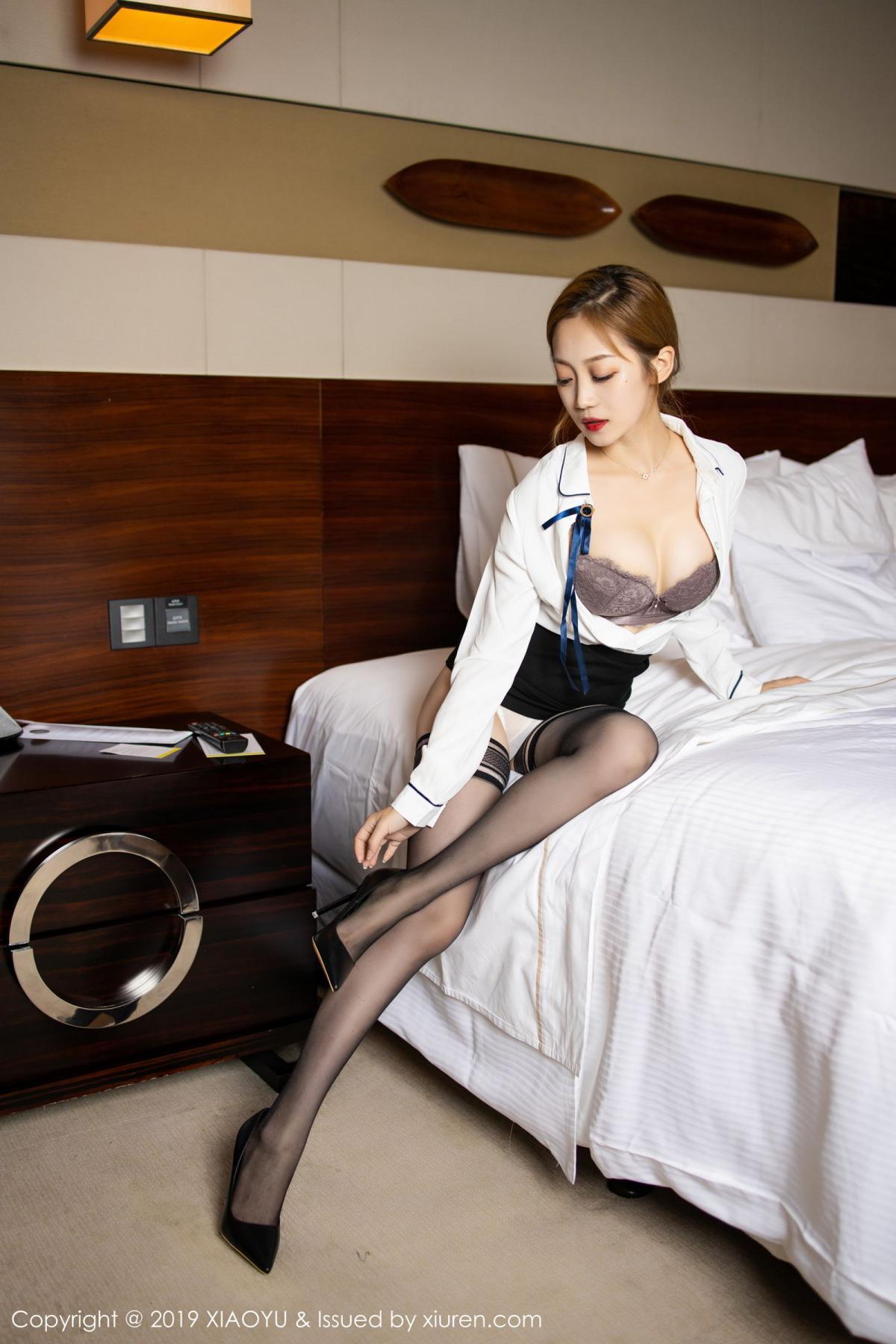 [XiaoYu] Vol.181 Yuner Claire 21P, Black Silk, Underwear, XiaoYu, Yuner Claire