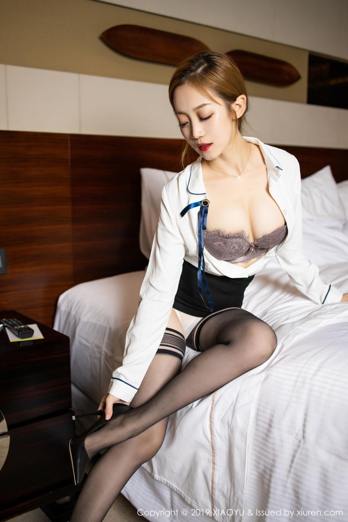 [XiaoYu] Vol.181 Yuner Claire 22P, Black Silk, Underwear, XiaoYu, Yuner Claire
